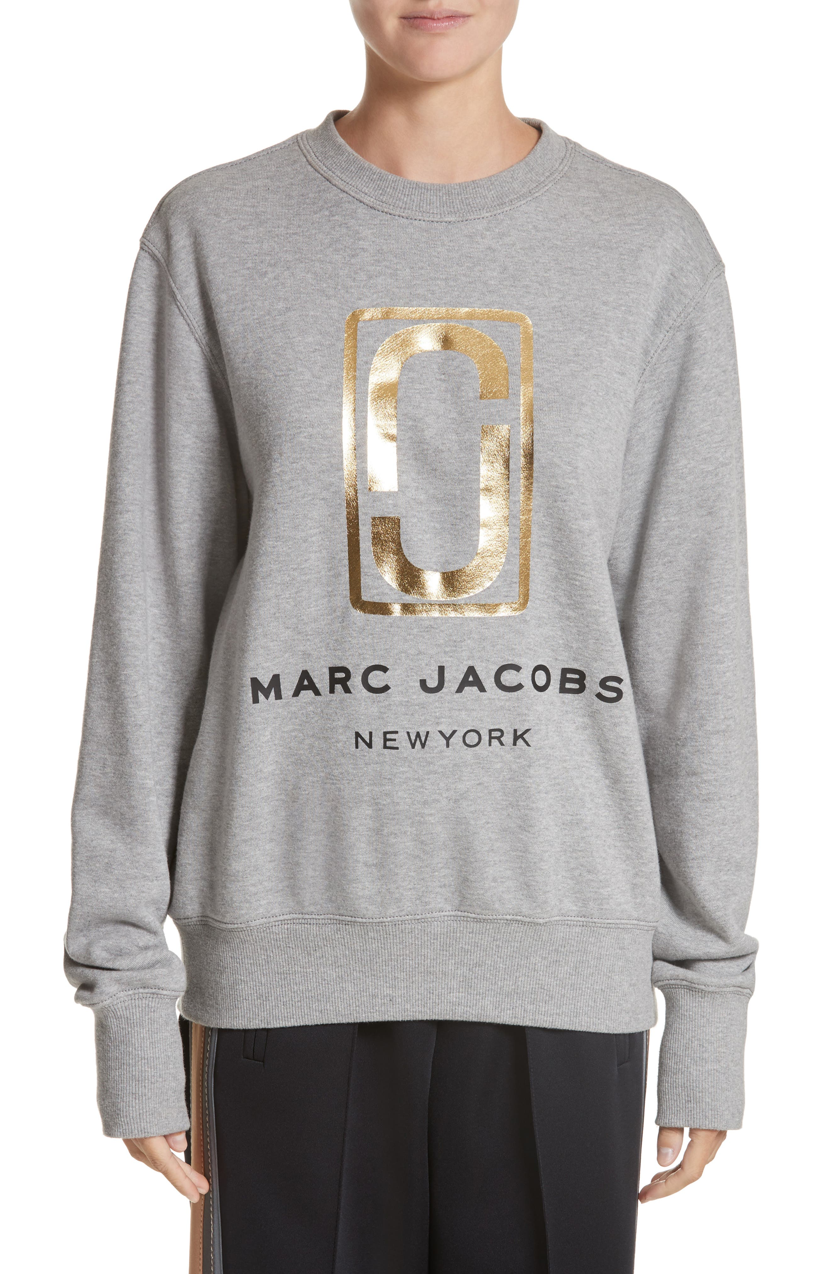 Logo Sweatshirt,                             Main thumbnail 1, color,                             Grey Melange