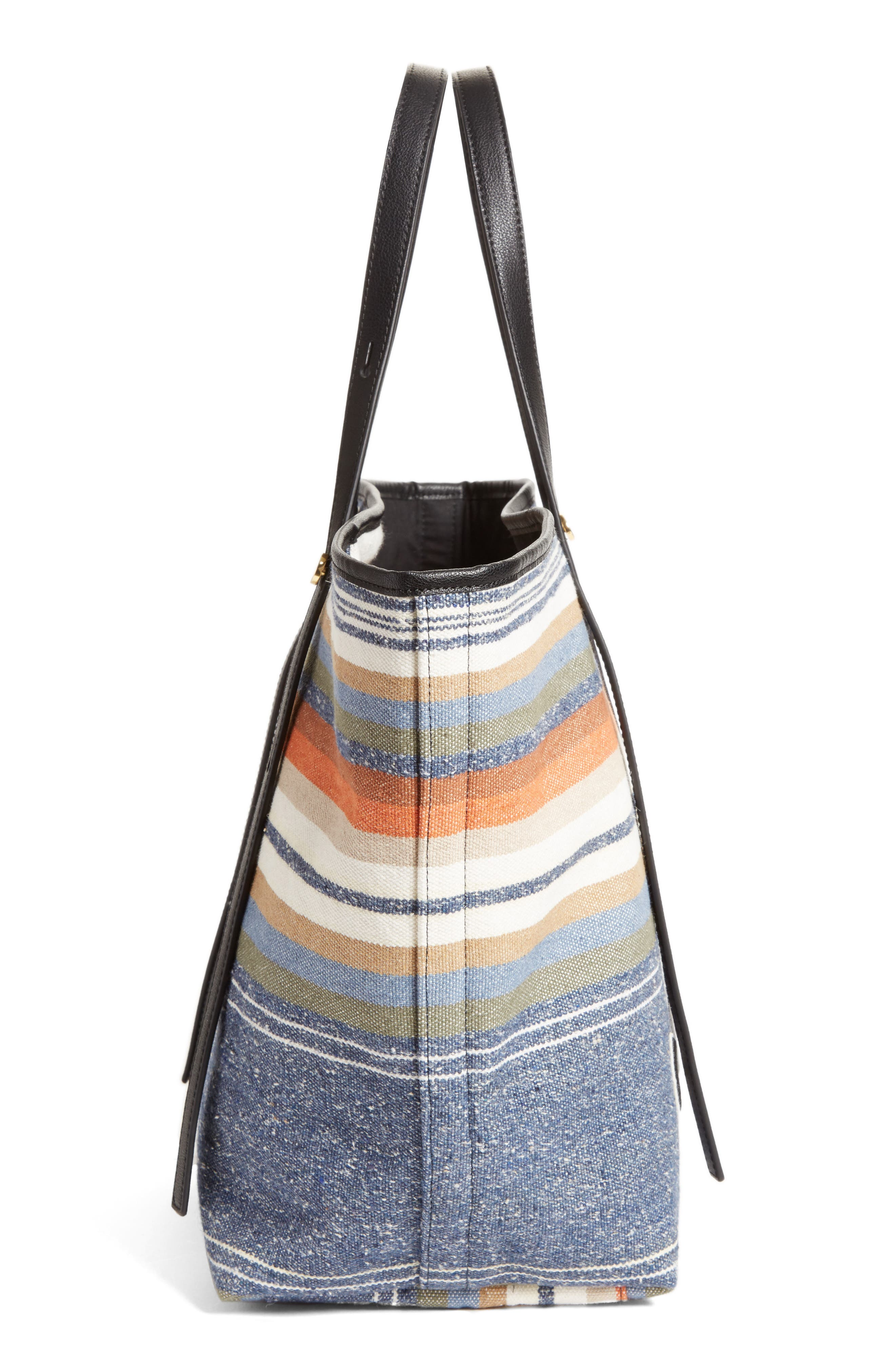 Alternate Image 5  - See by Chloé Stripe Canvas Tote