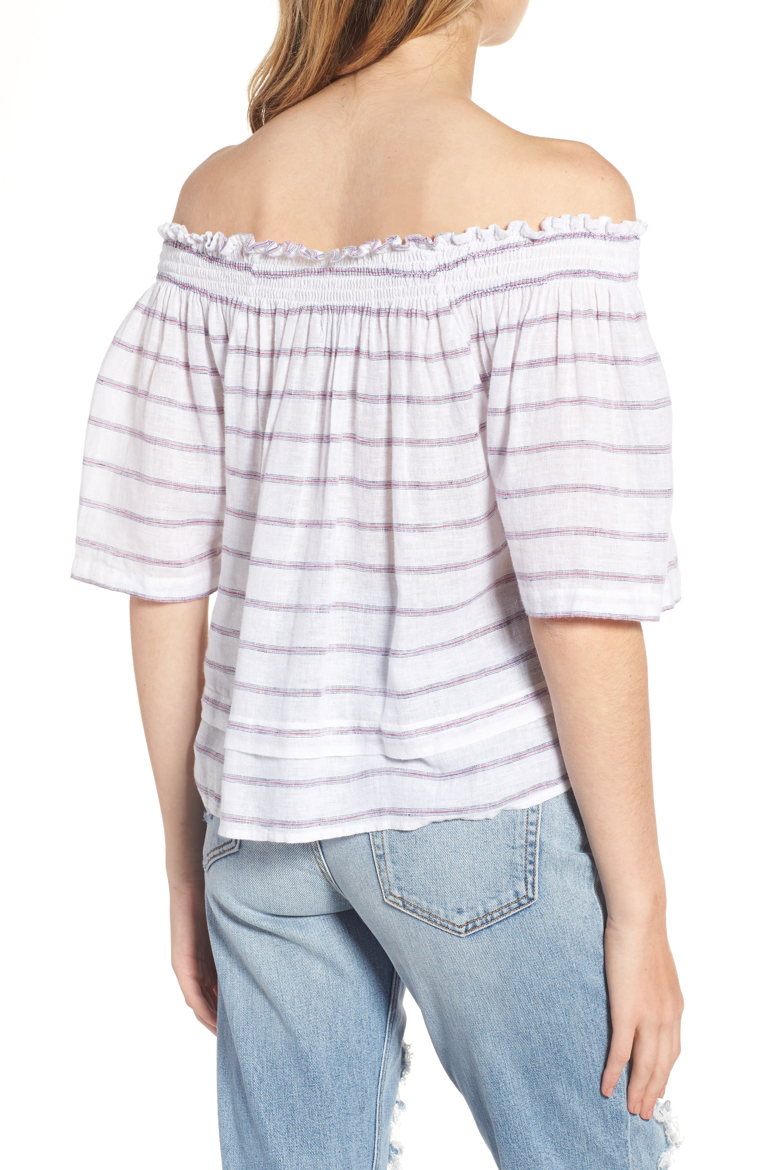 Alternate Image 2  - Rails Isabelle Off the Shoulder Linen Blend Top