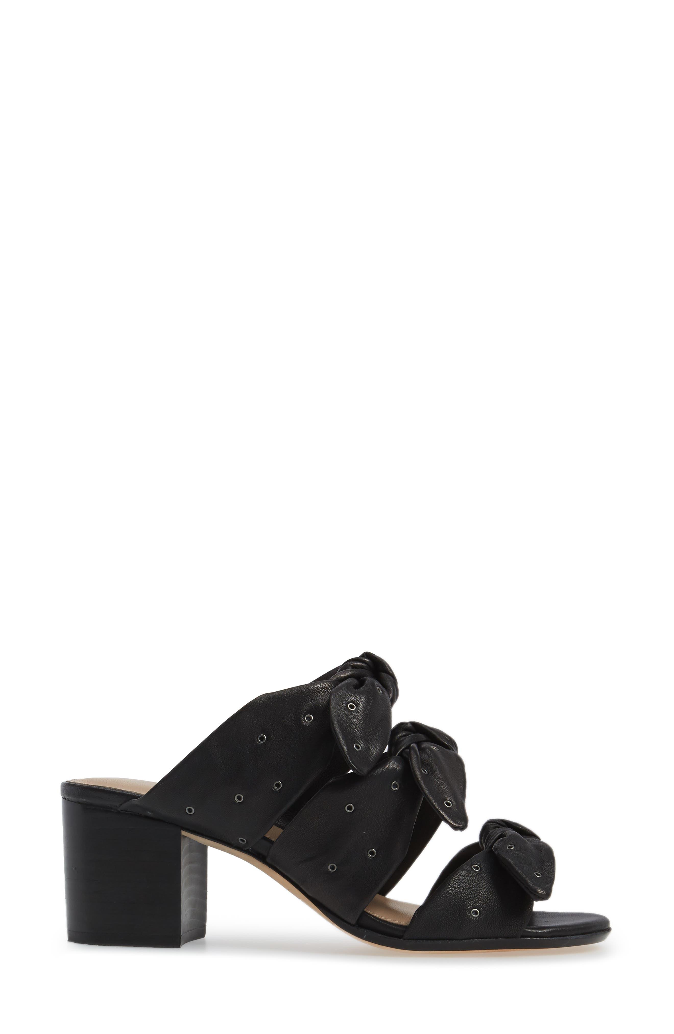Pour la Victore Amal Block Heel Sandal,                             Alternate thumbnail 3, color,                             Black