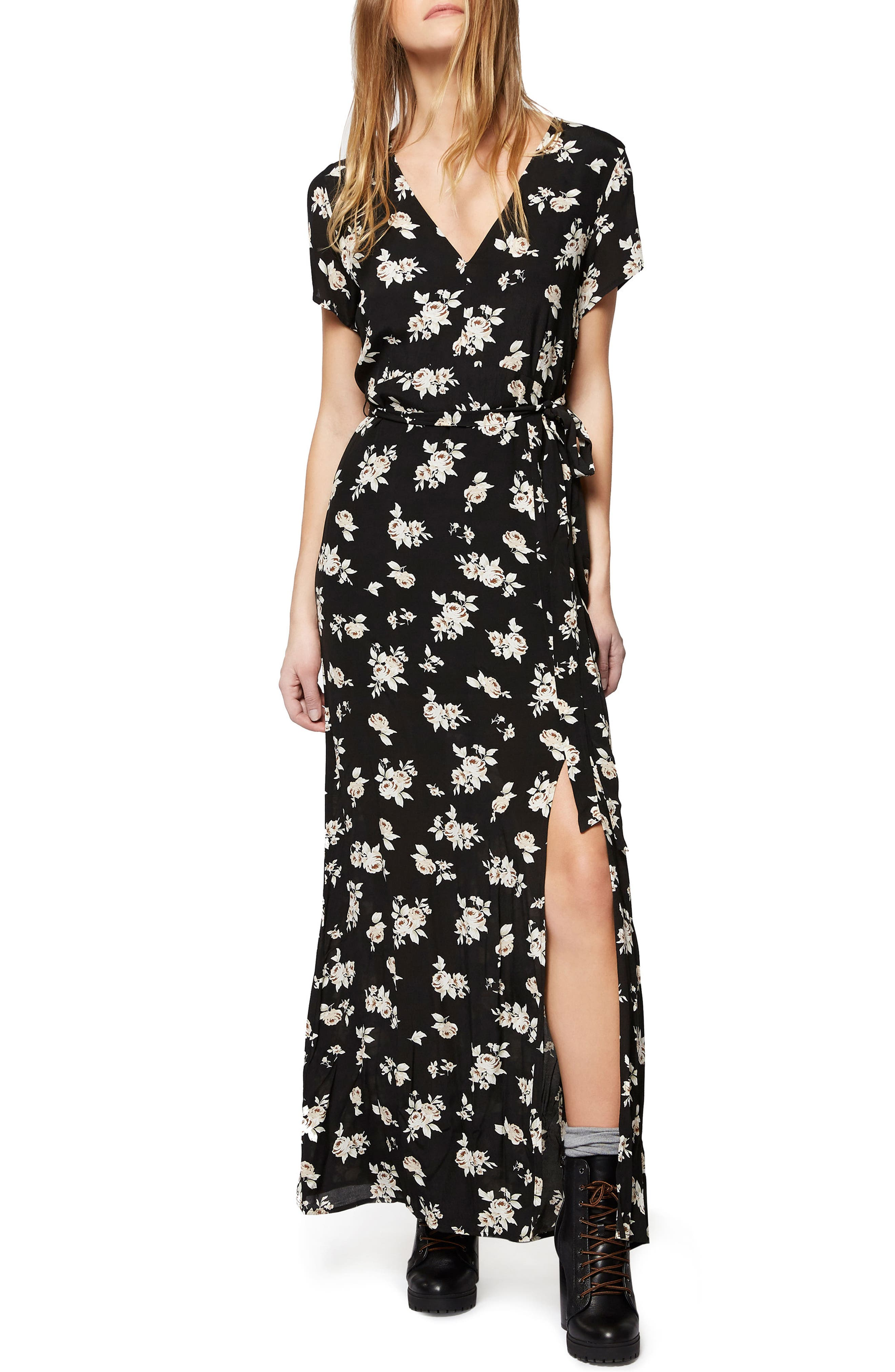 Alternate Image 1 Selected - Sanctuary Coco Floral A-Line Maxi Dress