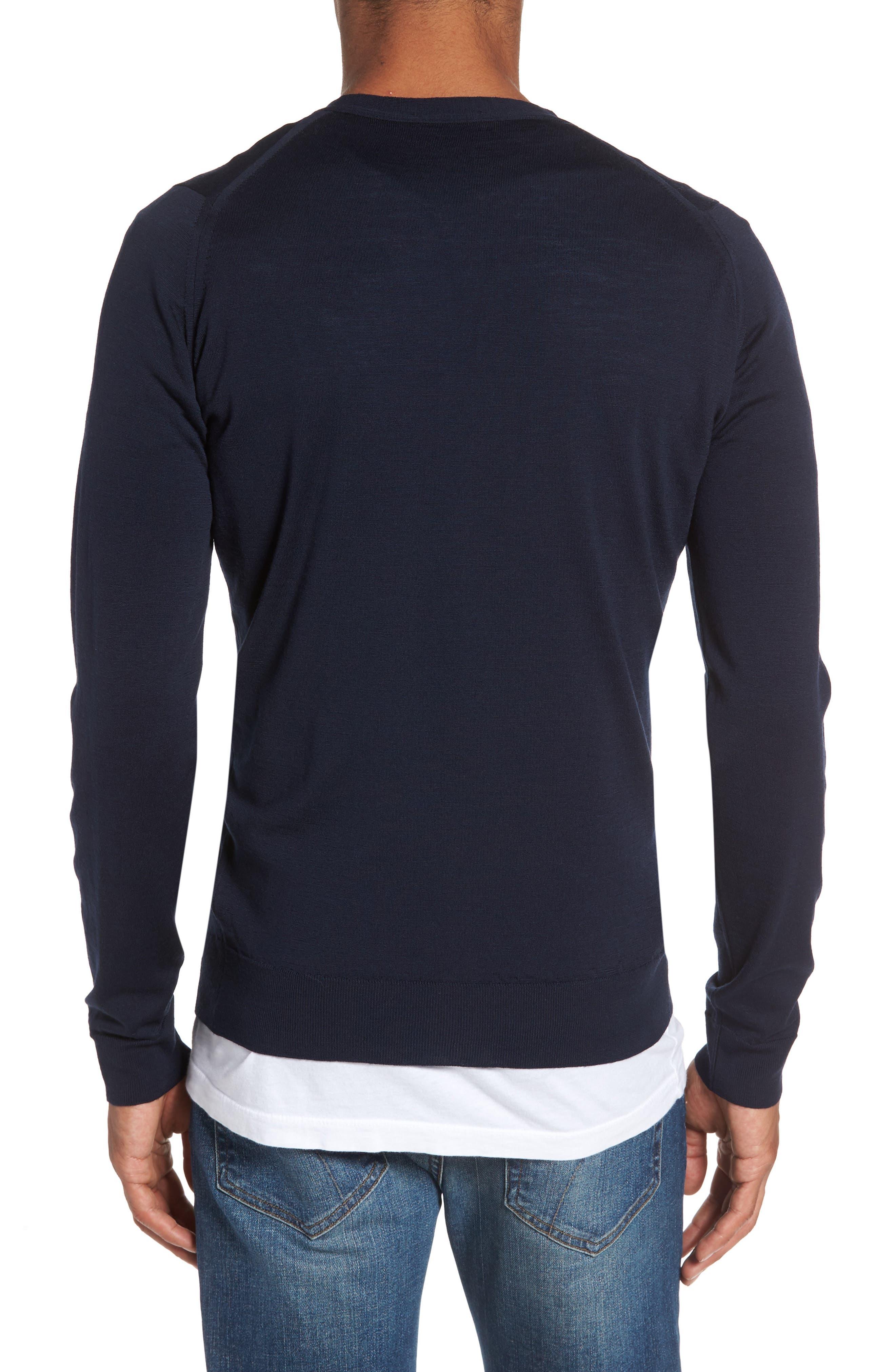 Standard Fit Wool Cardigan,                             Alternate thumbnail 2, color,                             Midnight