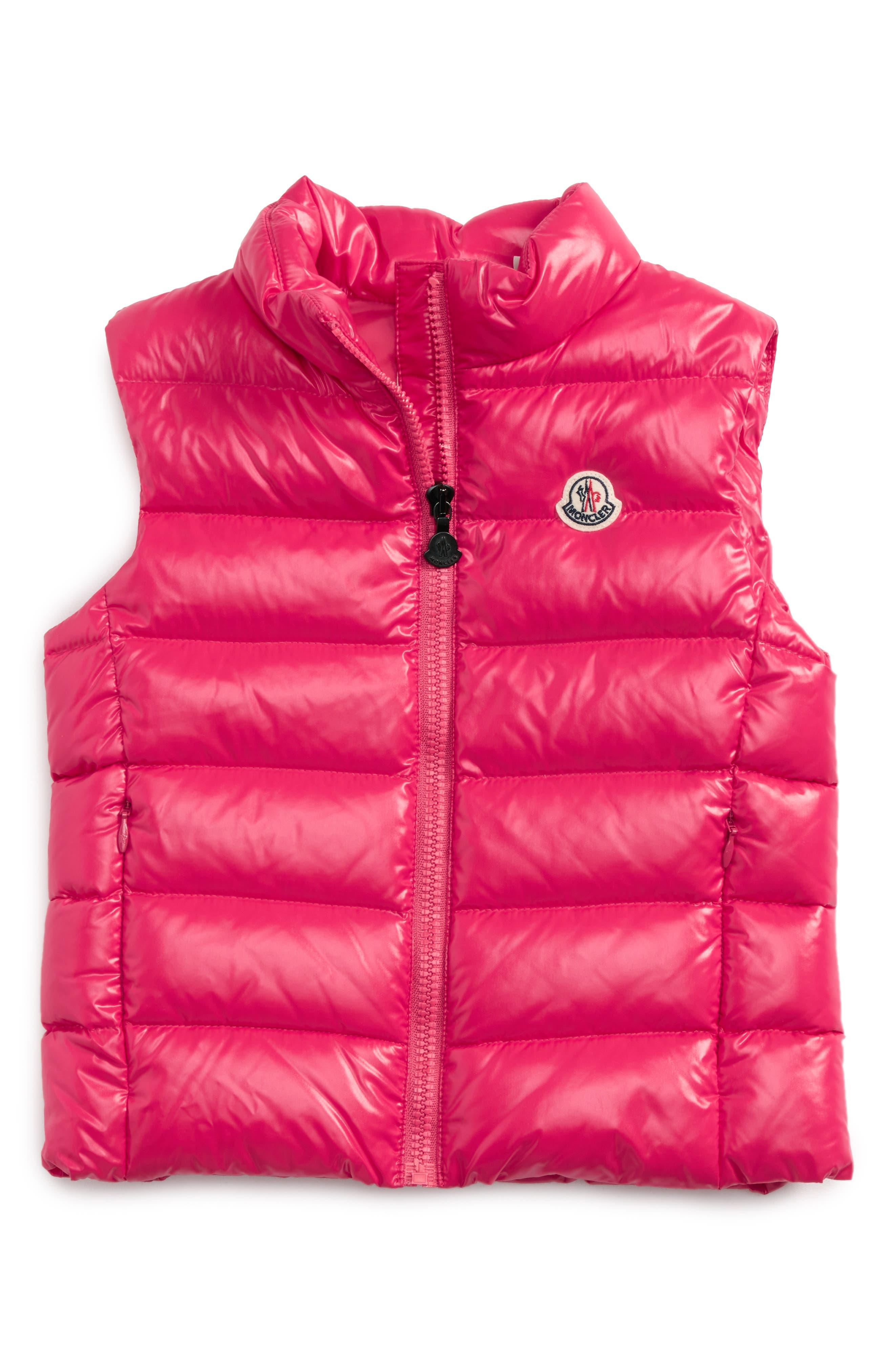 Moncler Ghany Water Resistant Shiny Down Puffer Vest (Toddler Girls, Little Girls & Big Girls)