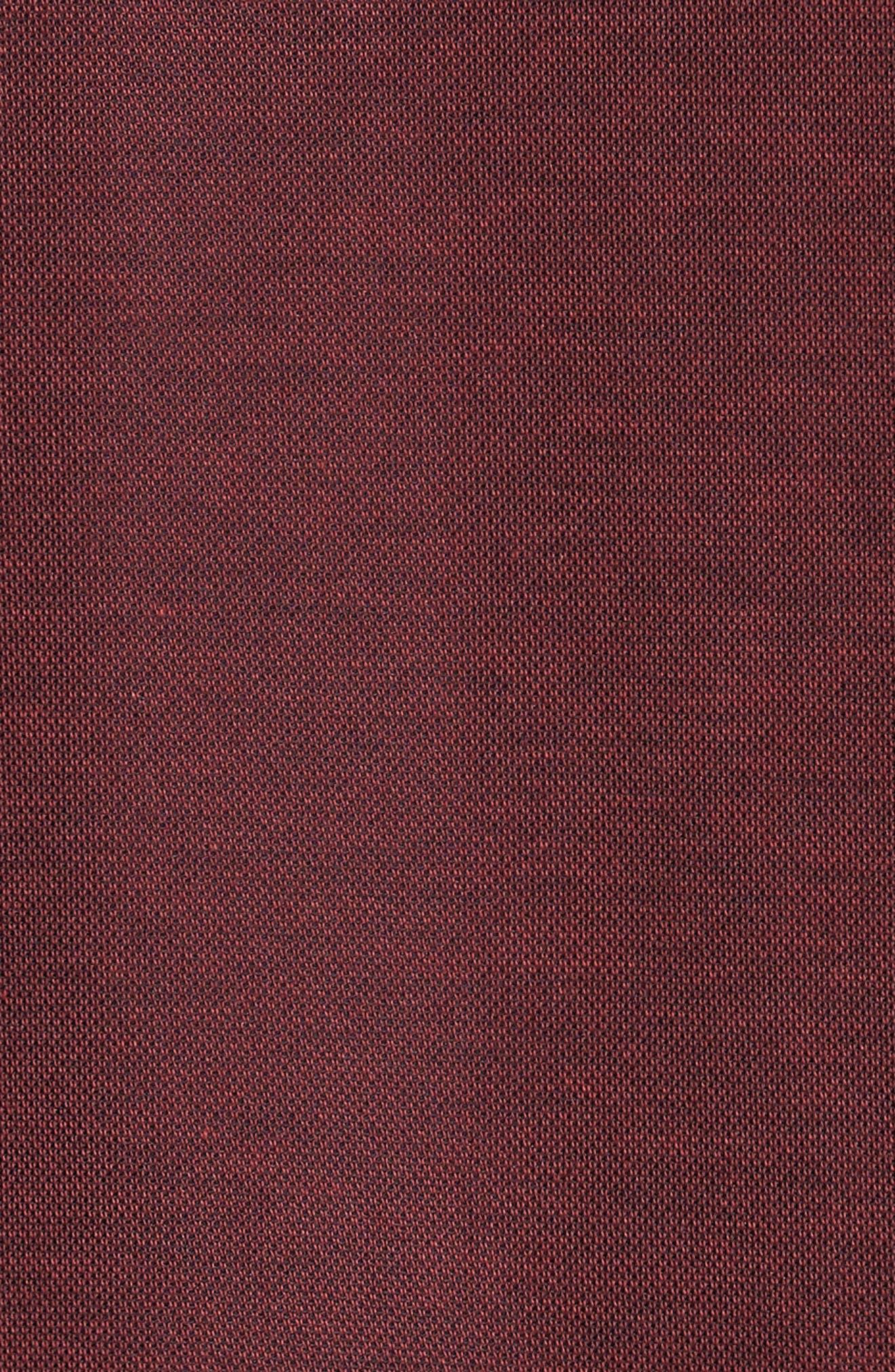 K-Lew Piqué Polo,                             Alternate thumbnail 5, color,                             Ox Blood/ Black