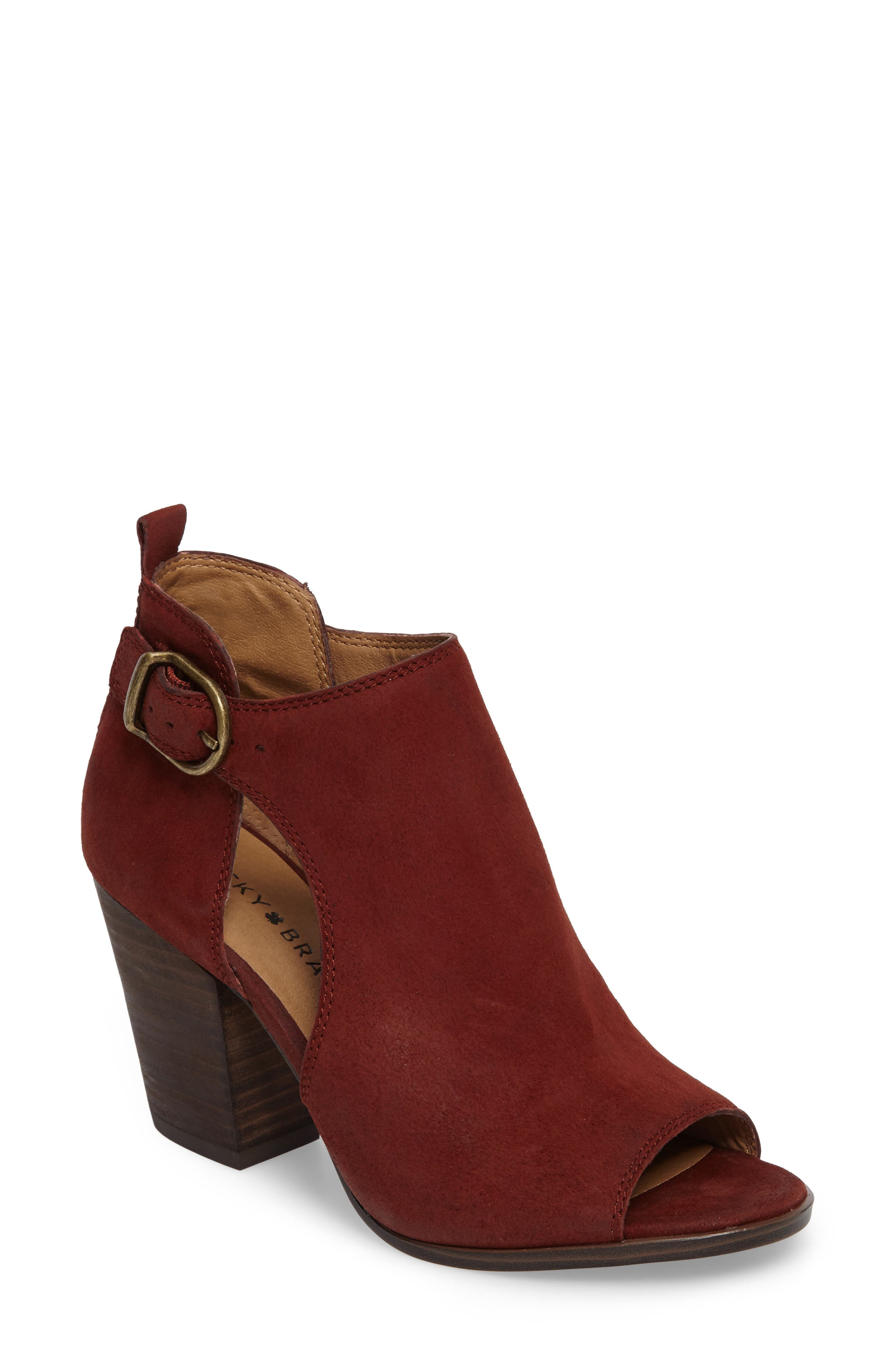 Oona Open Side Bootie,                             Main thumbnail 1, color,                             Sable Leather