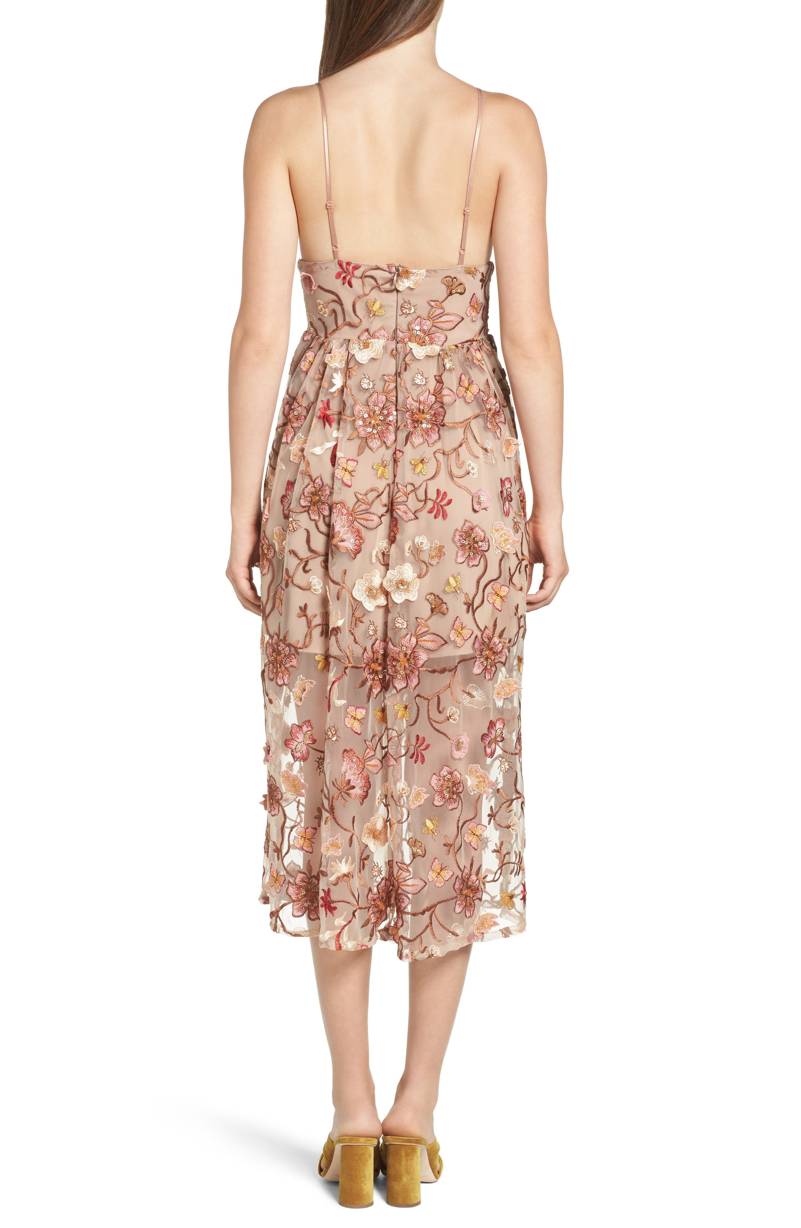 Alternate Image 2  - For Love & Lemons Botanic Midi Dress