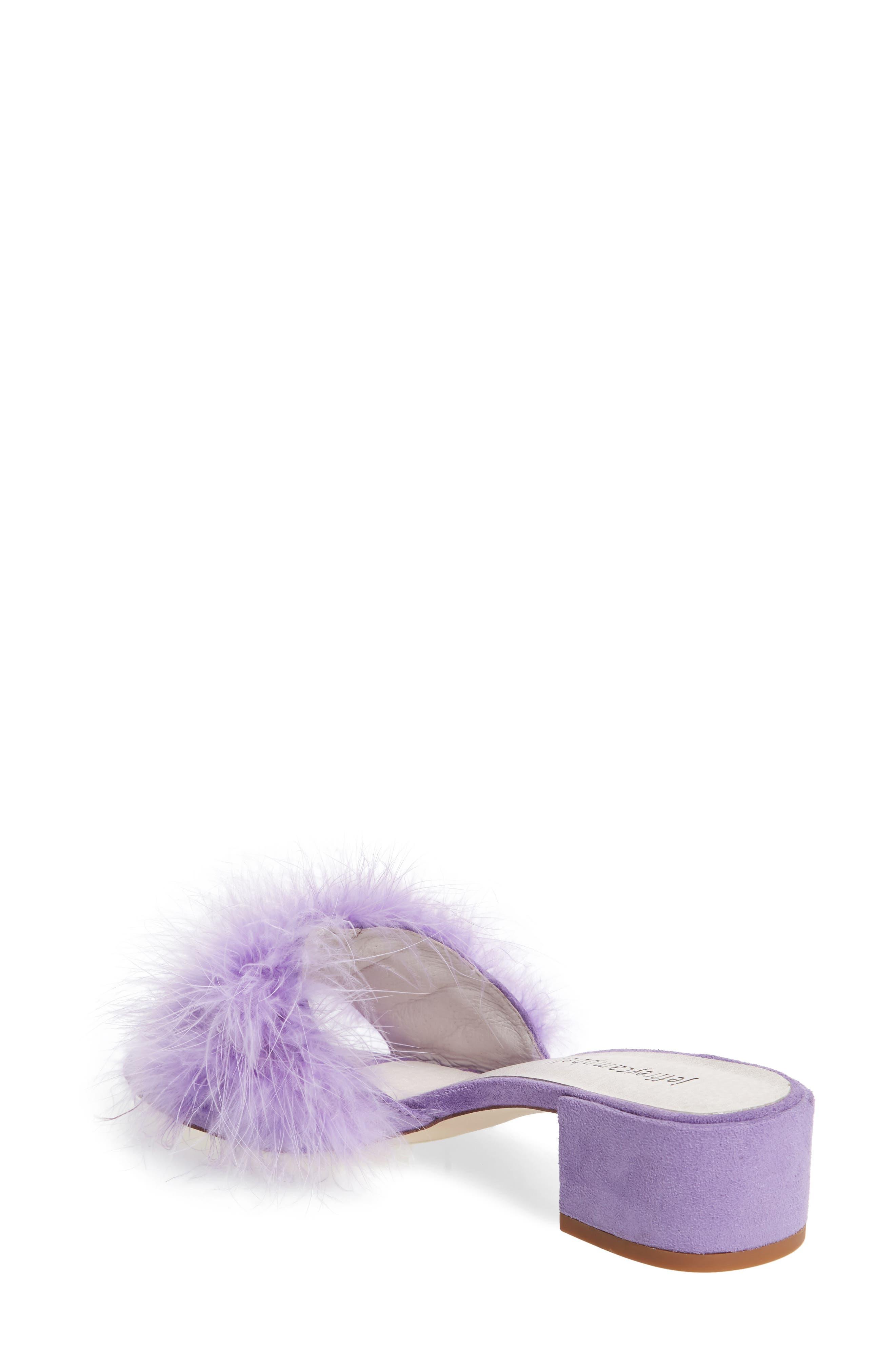 'Beaton' Slide Sandal,                             Alternate thumbnail 2, color,                             Lilac Suede