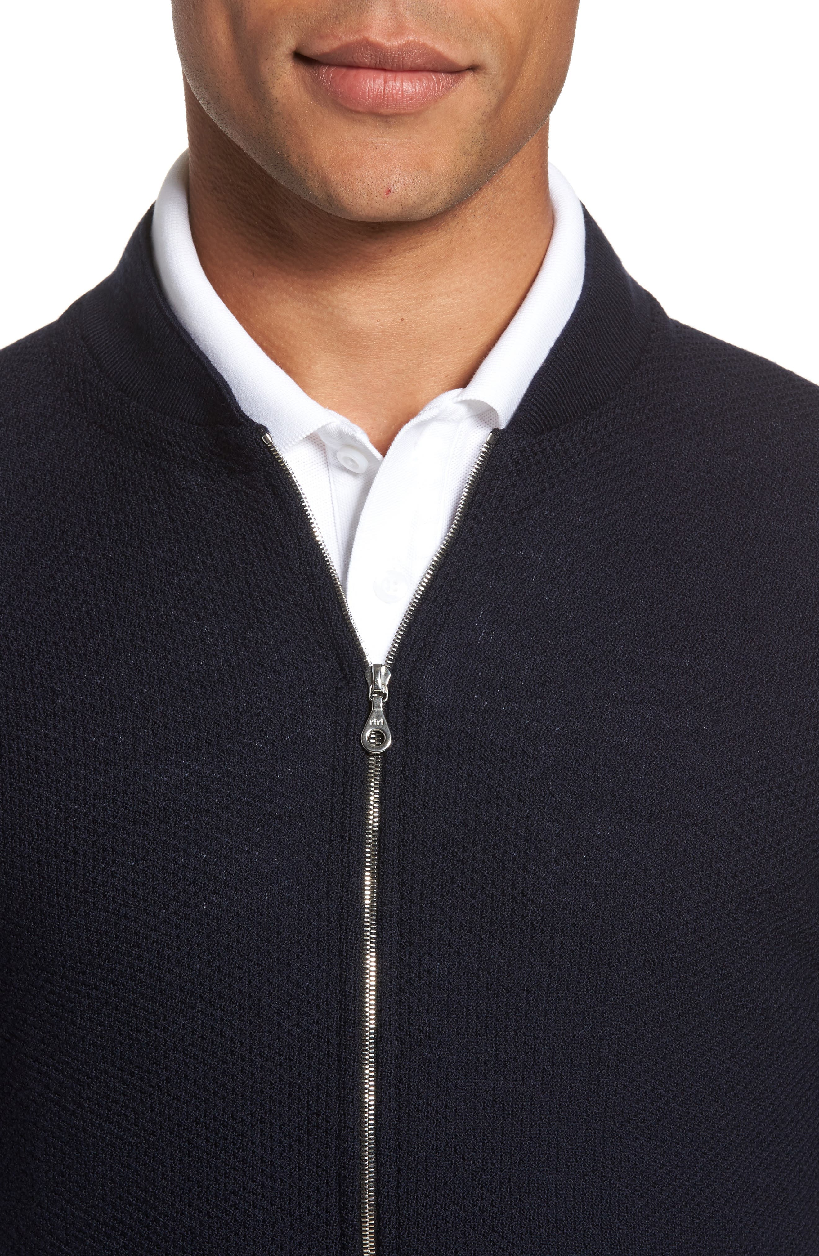Alternate Image 4  - John Smedley Standard Fit Merino Wool Knit Jacket
