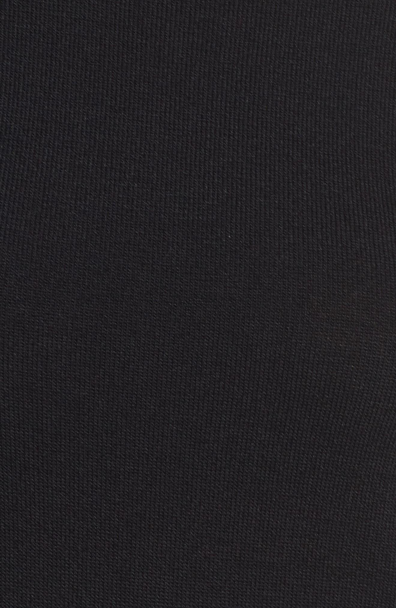 Bell Sleeve Fit & Flare Dress,                             Alternate thumbnail 5, color,                             Black/ Ivory