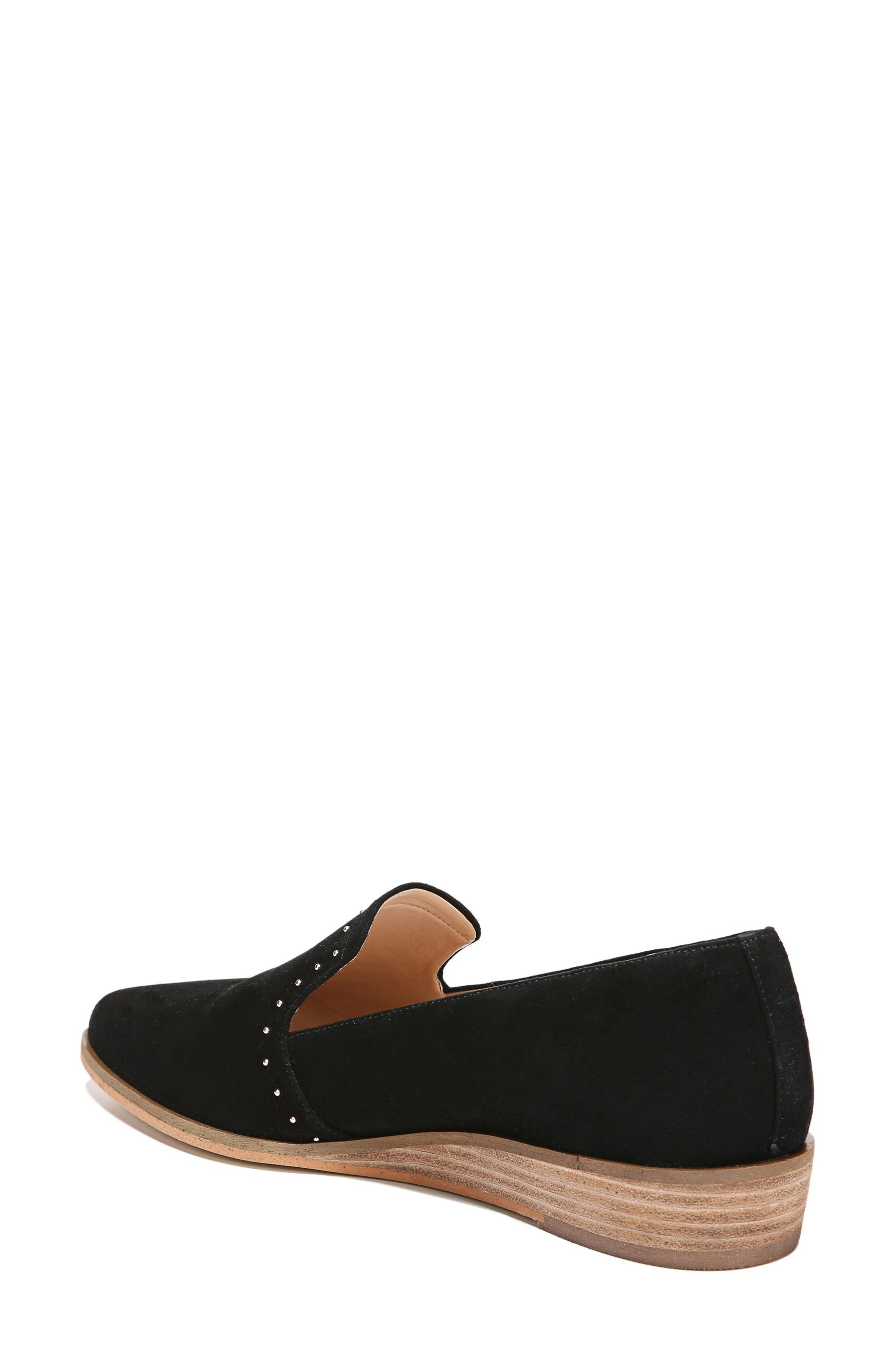 Keane Loafer Wedge,                             Alternate thumbnail 2, color,                             Black Suede