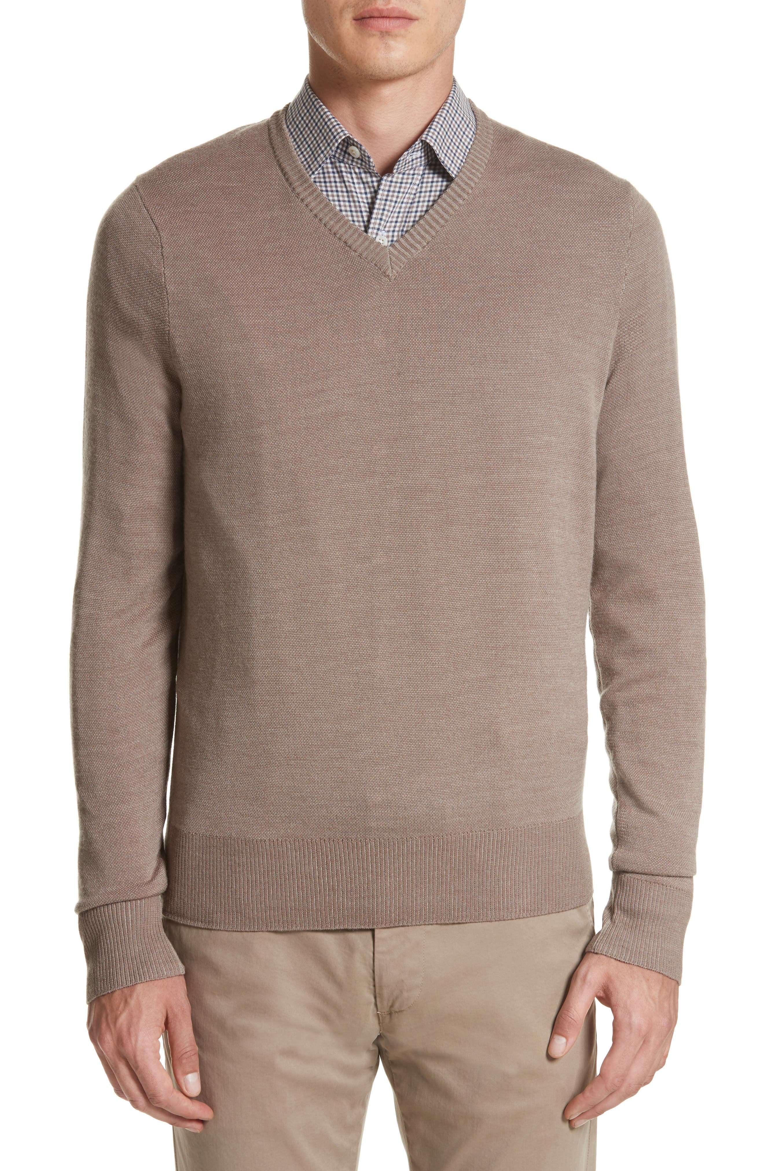 Canali Regular Fit Wool Sweater