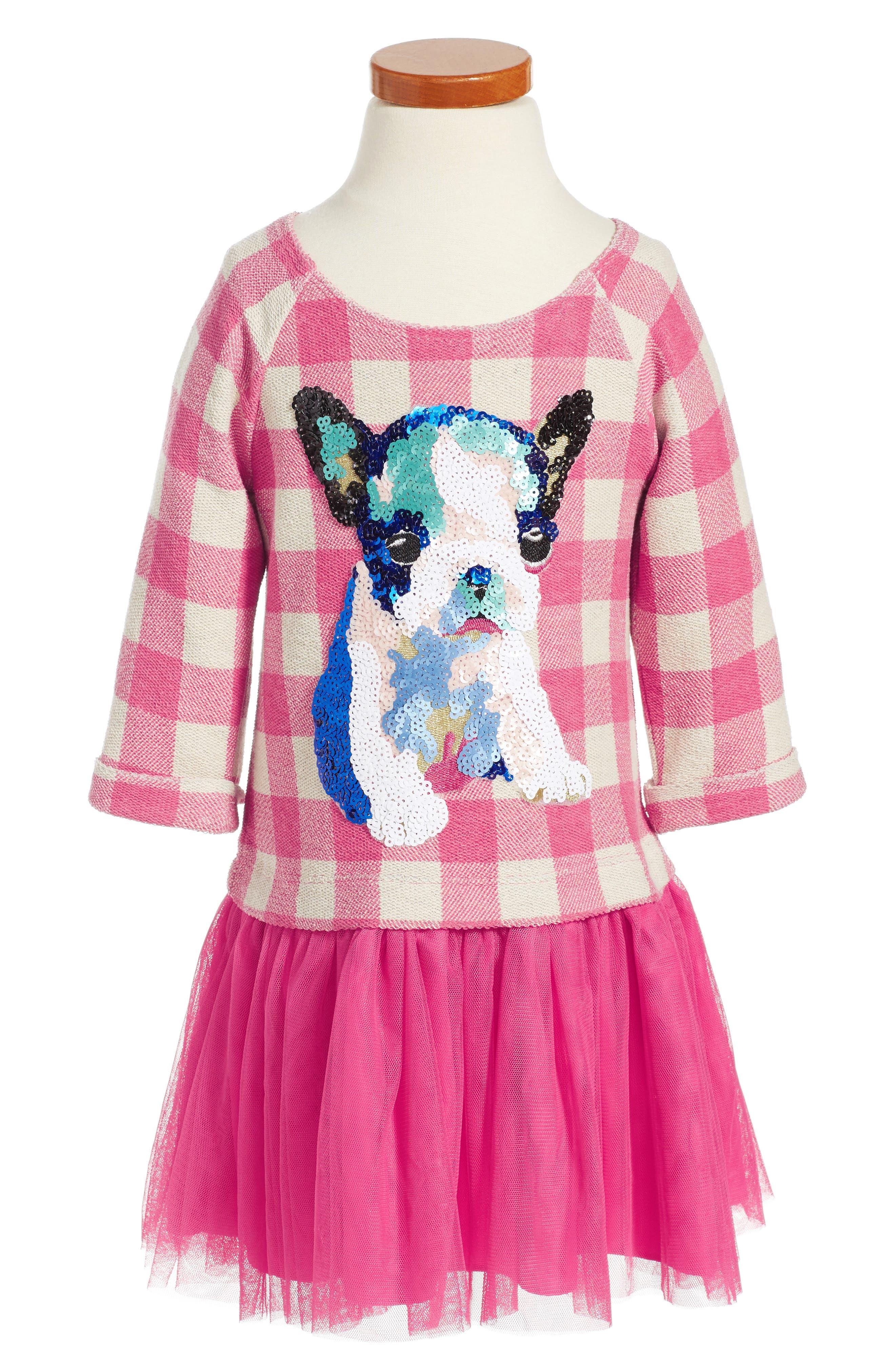 PIPPA & JULIE French Bulldog Embellished Dress