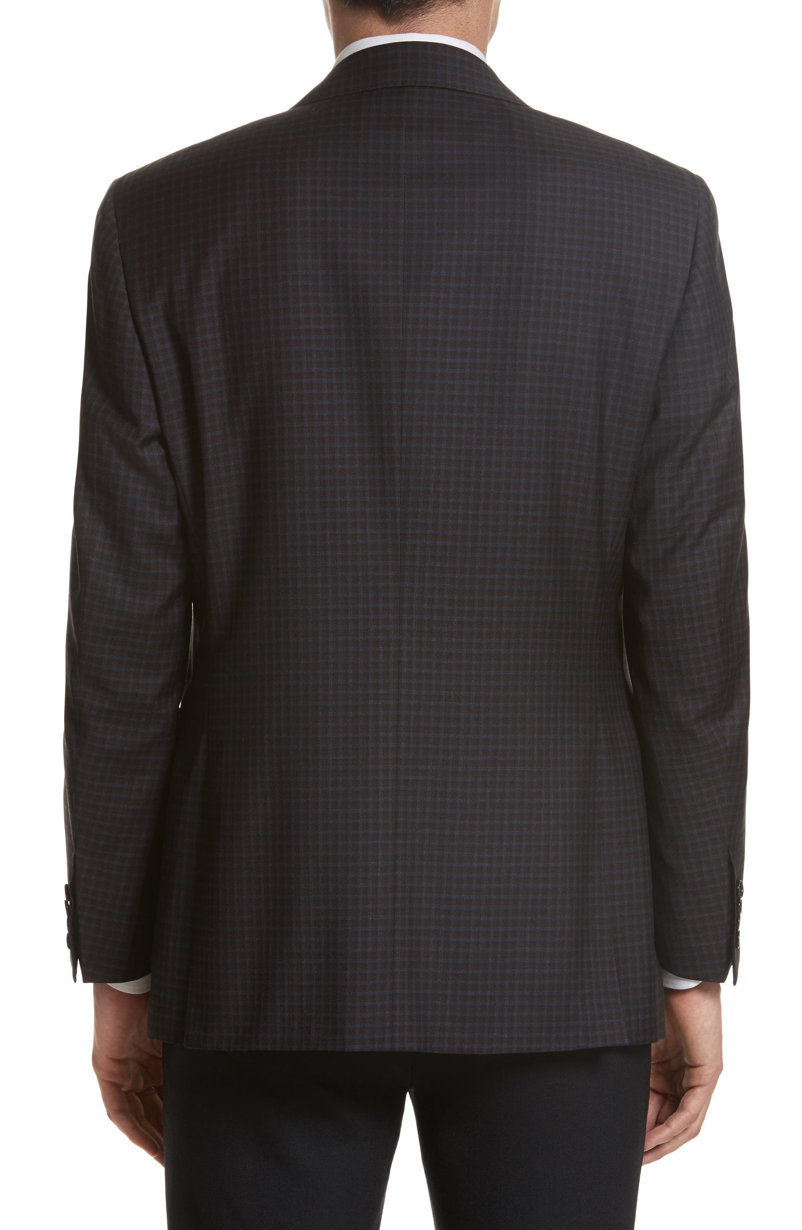 Classic Fit Check Wool Sport Coat,                             Alternate thumbnail 2, color,                             Blue