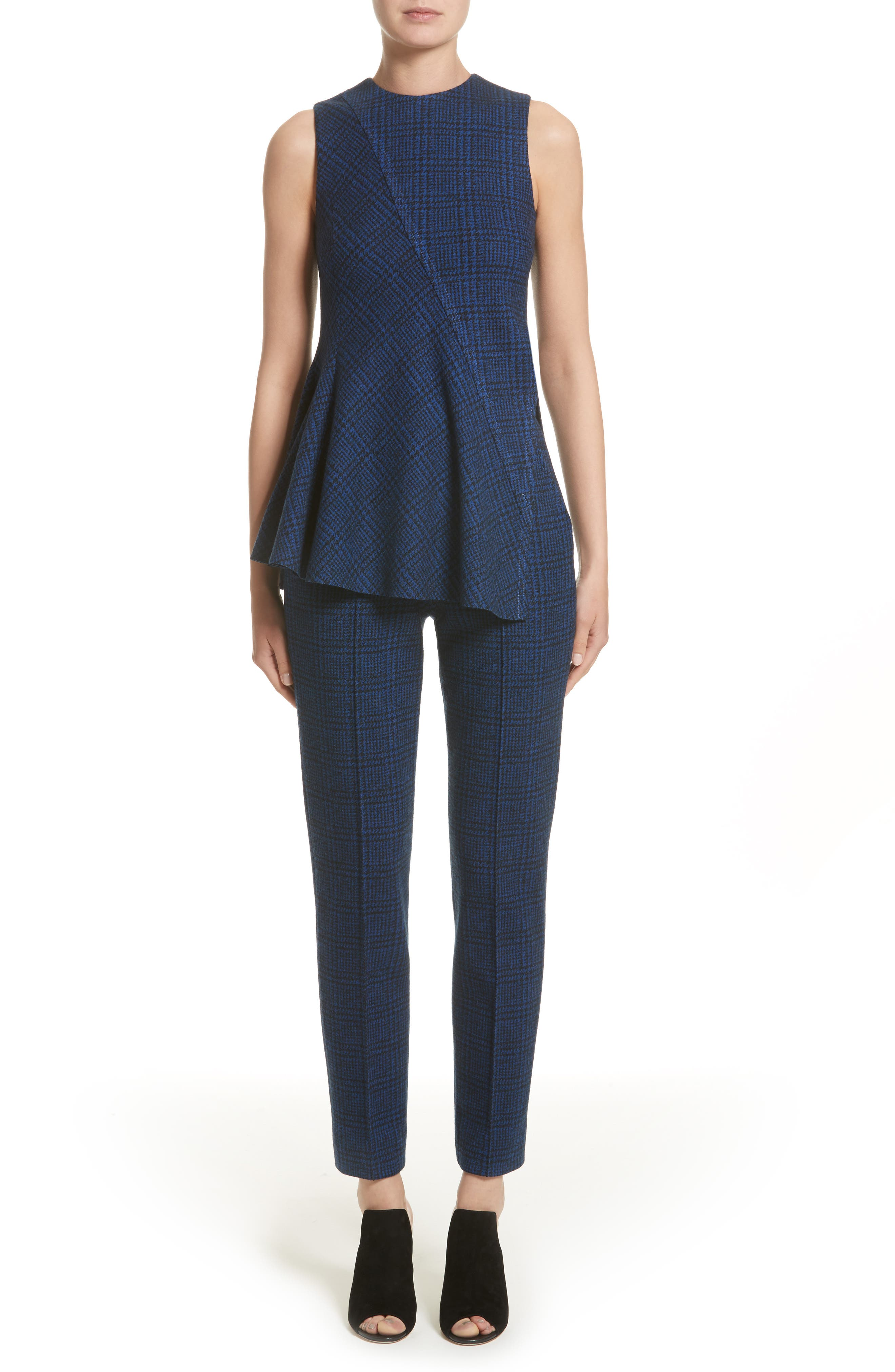 Alternate Image 6  - Jason Wu Check Jersey Asymmetrical Peplum Top