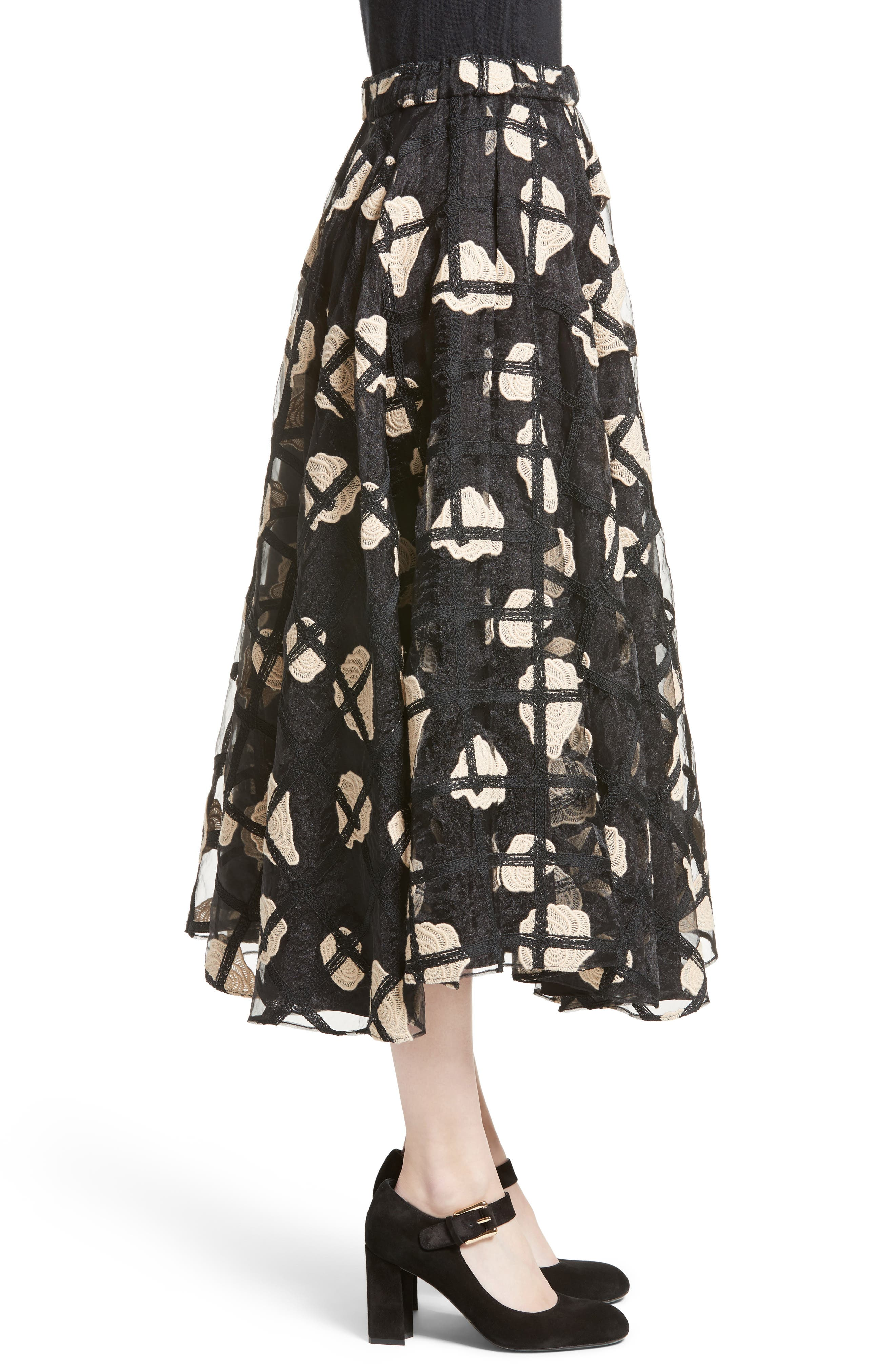 Alternate Image 6  - Co Floral Cage Lace Midi Skirt