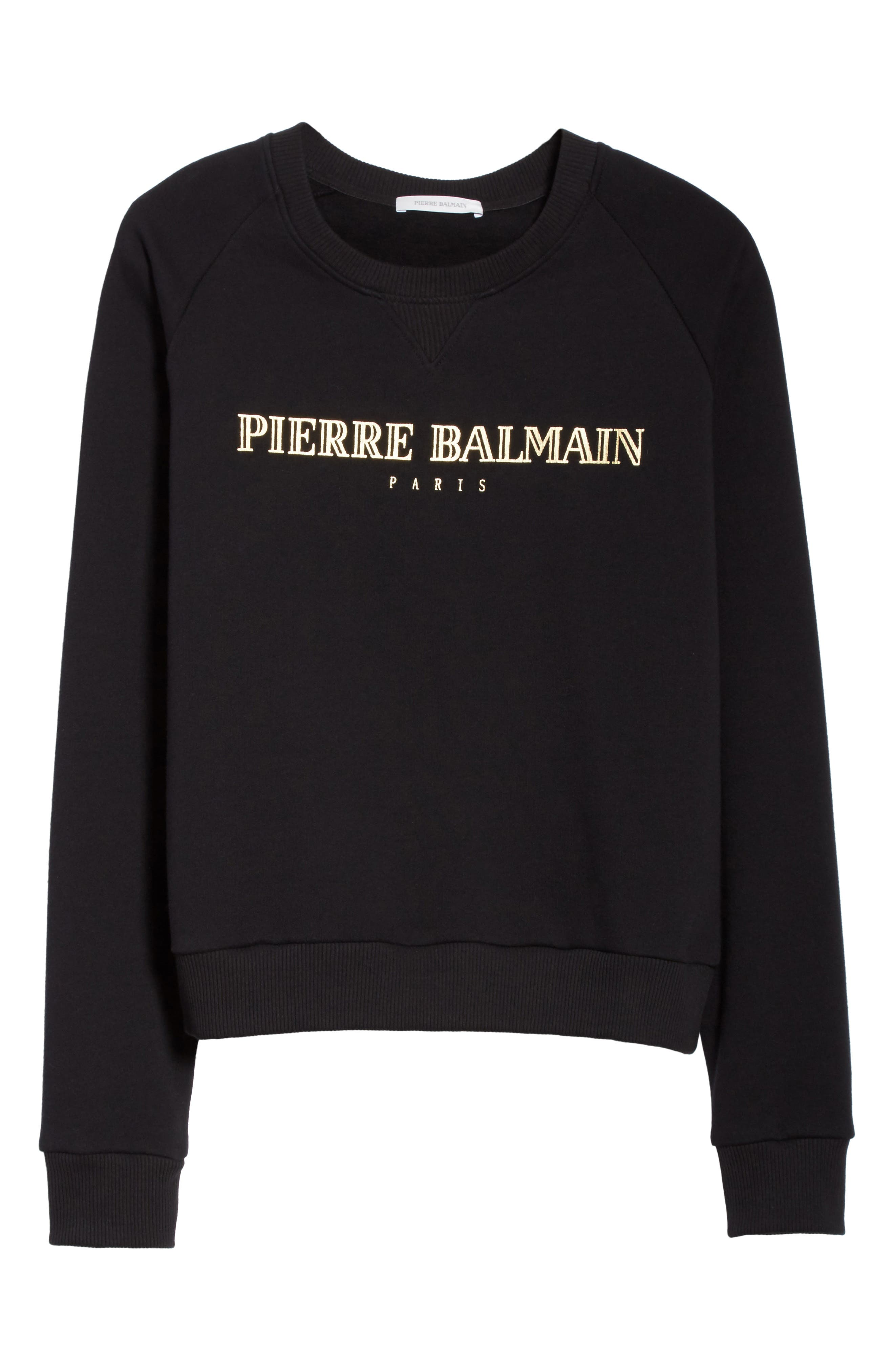 Alternate Image 6  - Pierre Balmain Logo Graphic Sweatshirt