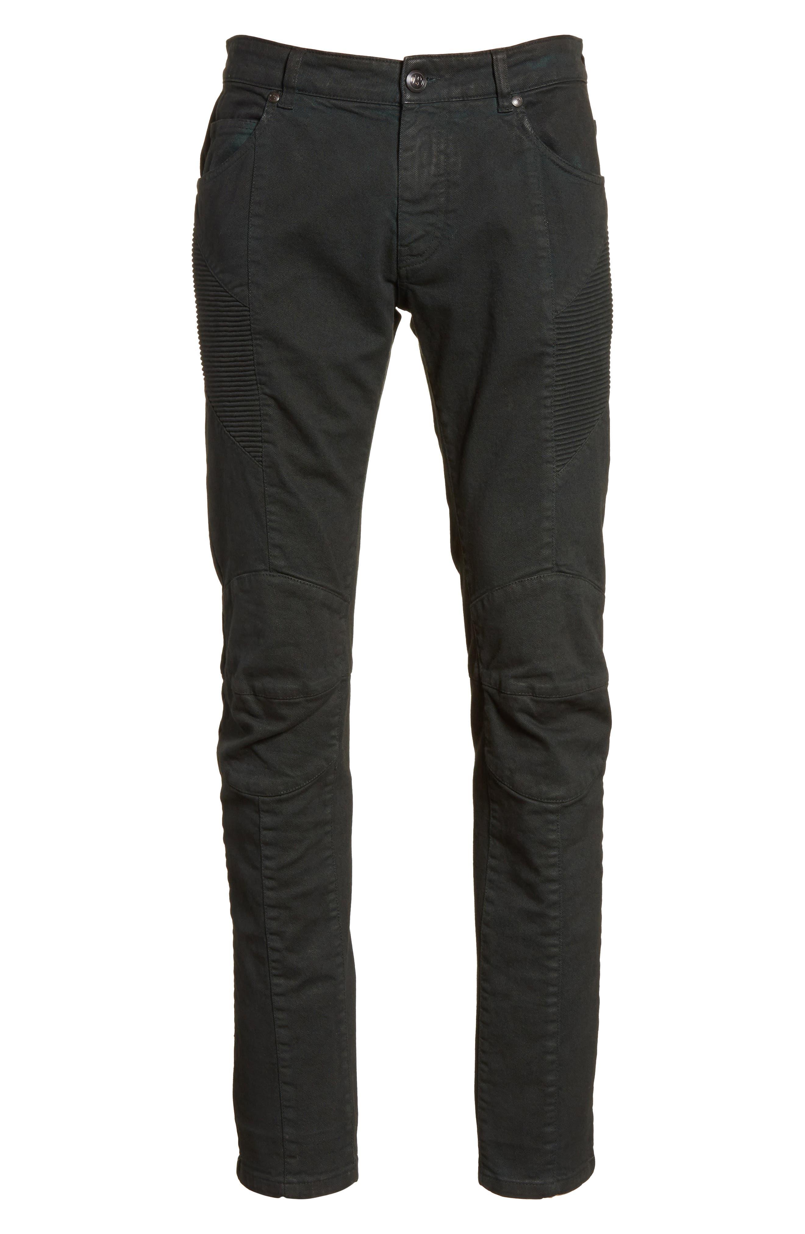 Moto Jeans,                             Alternate thumbnail 6, color,                             Dark Green