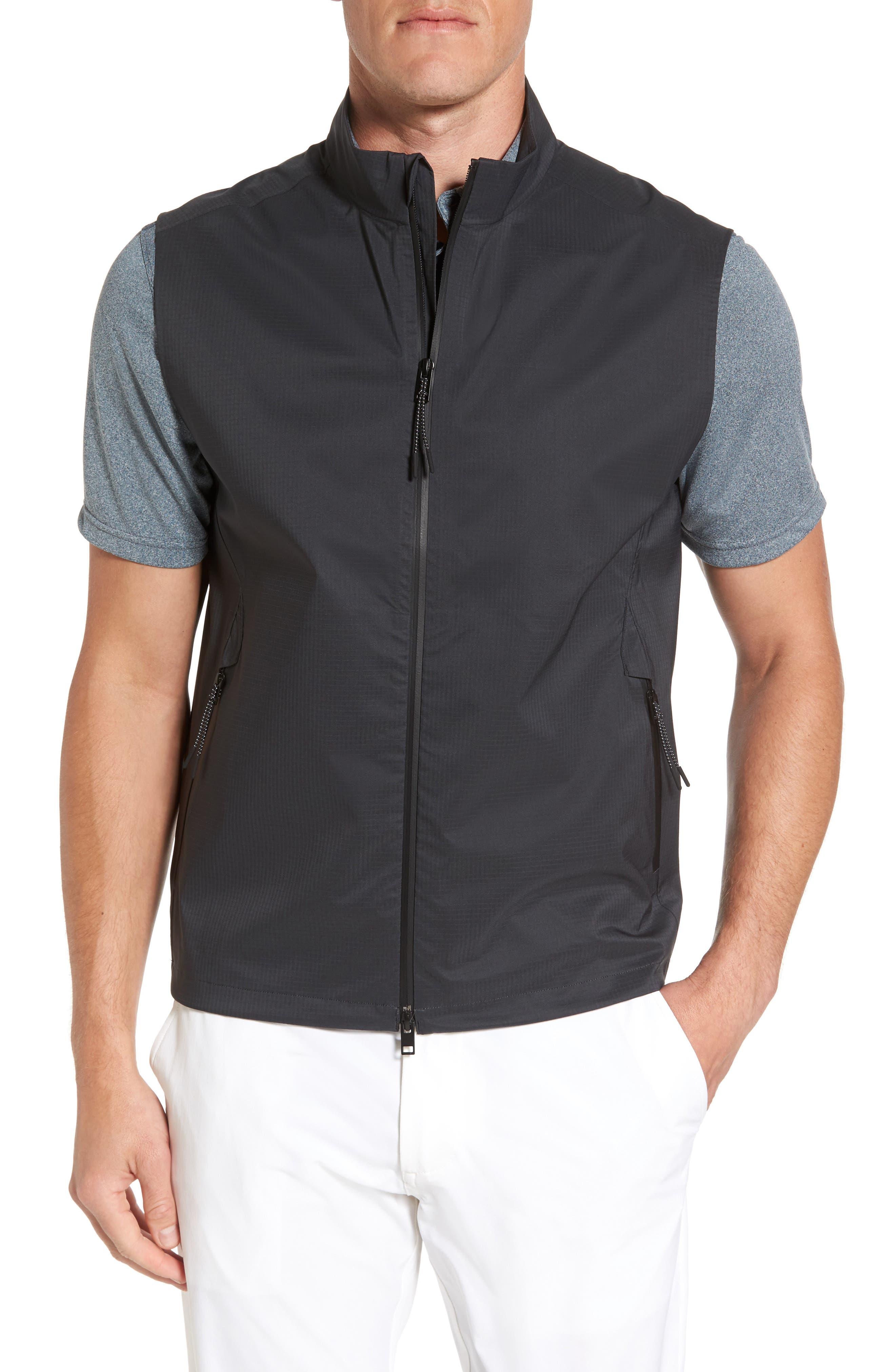 Newton Ripstop Vest,                         Main,                         color, Caviar