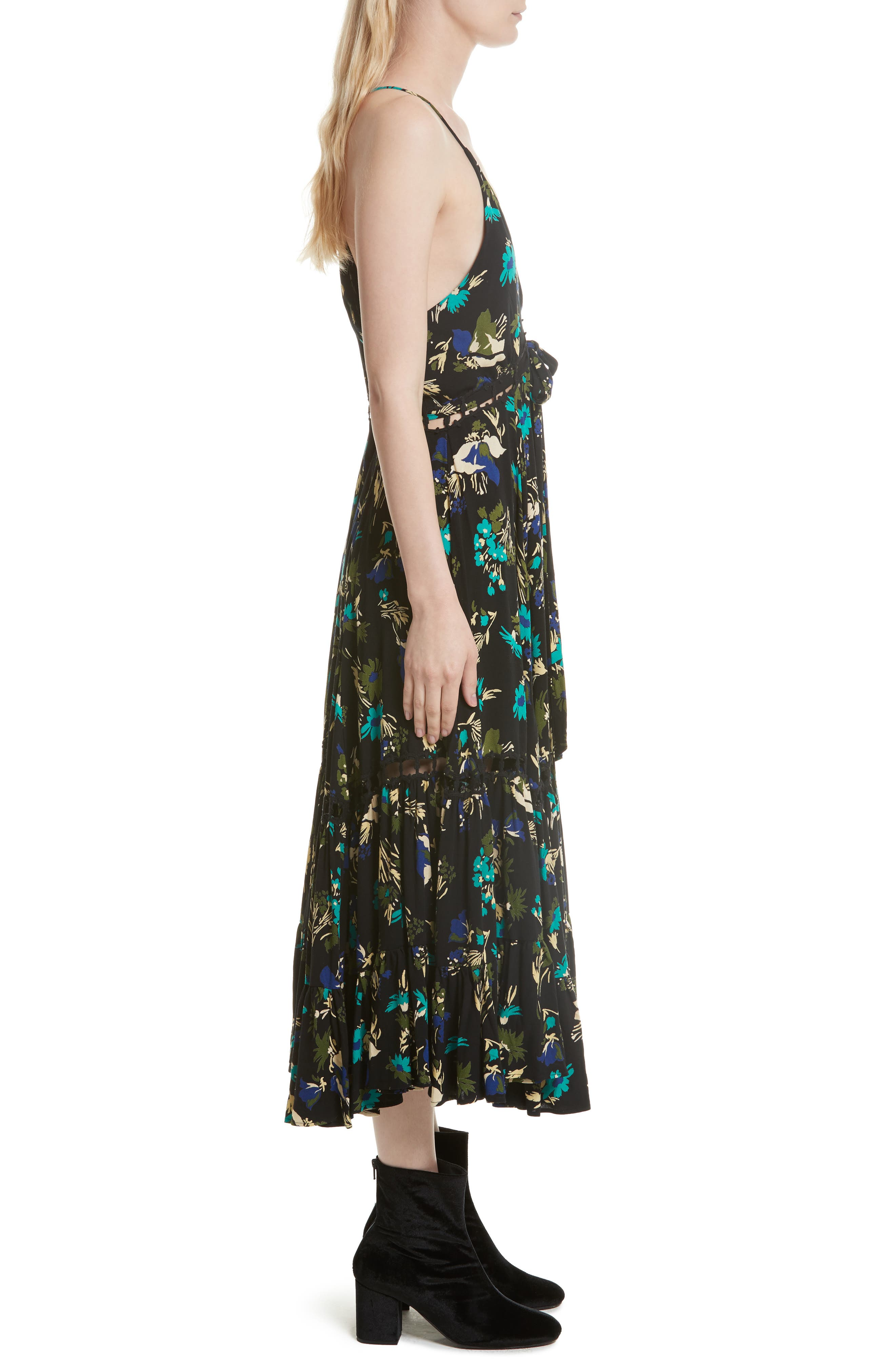Pages of Gold Maxi Dress,                             Alternate thumbnail 3, color,                             Black Combo