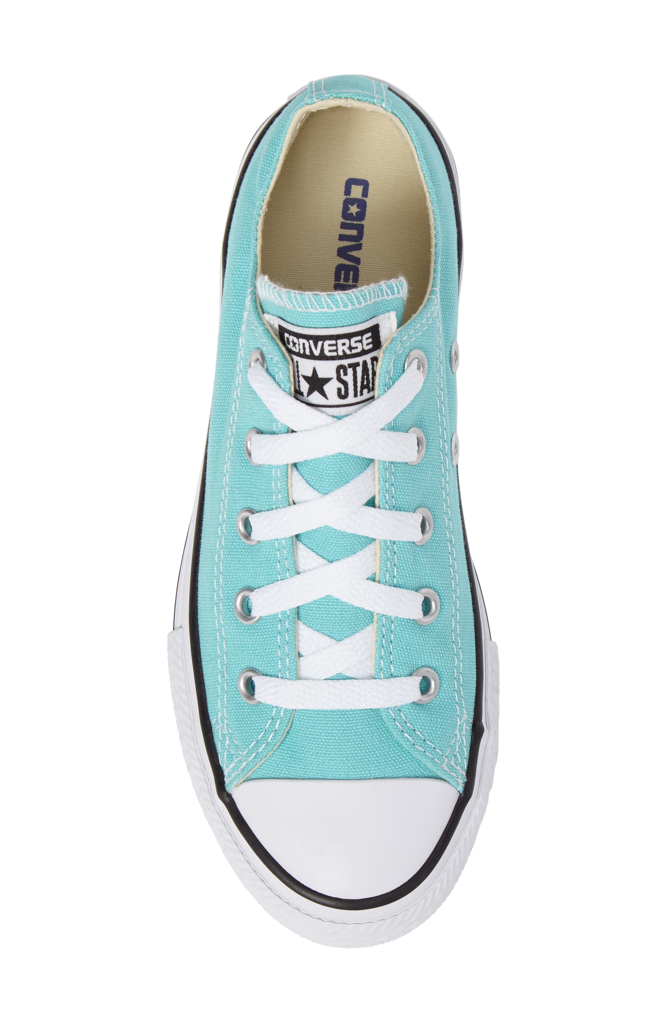 Chuck Taylor<sup>®</sup> All Star<sup>®</sup> Low Top Sneaker,                             Alternate thumbnail 5, color,                             Light Aqua/ Light Aqua