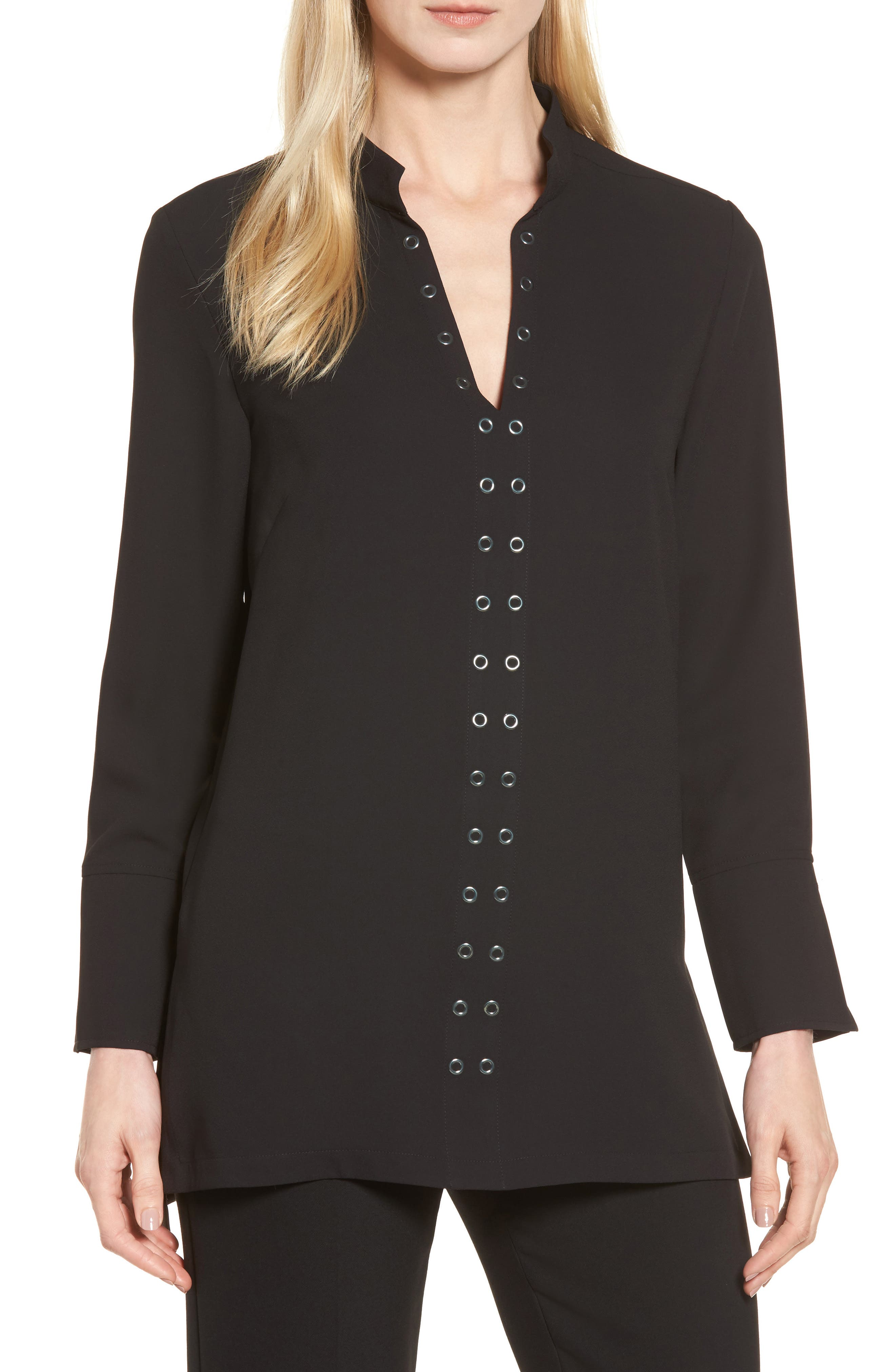 Main Image - Ming Wang Grommet Trim Blouse