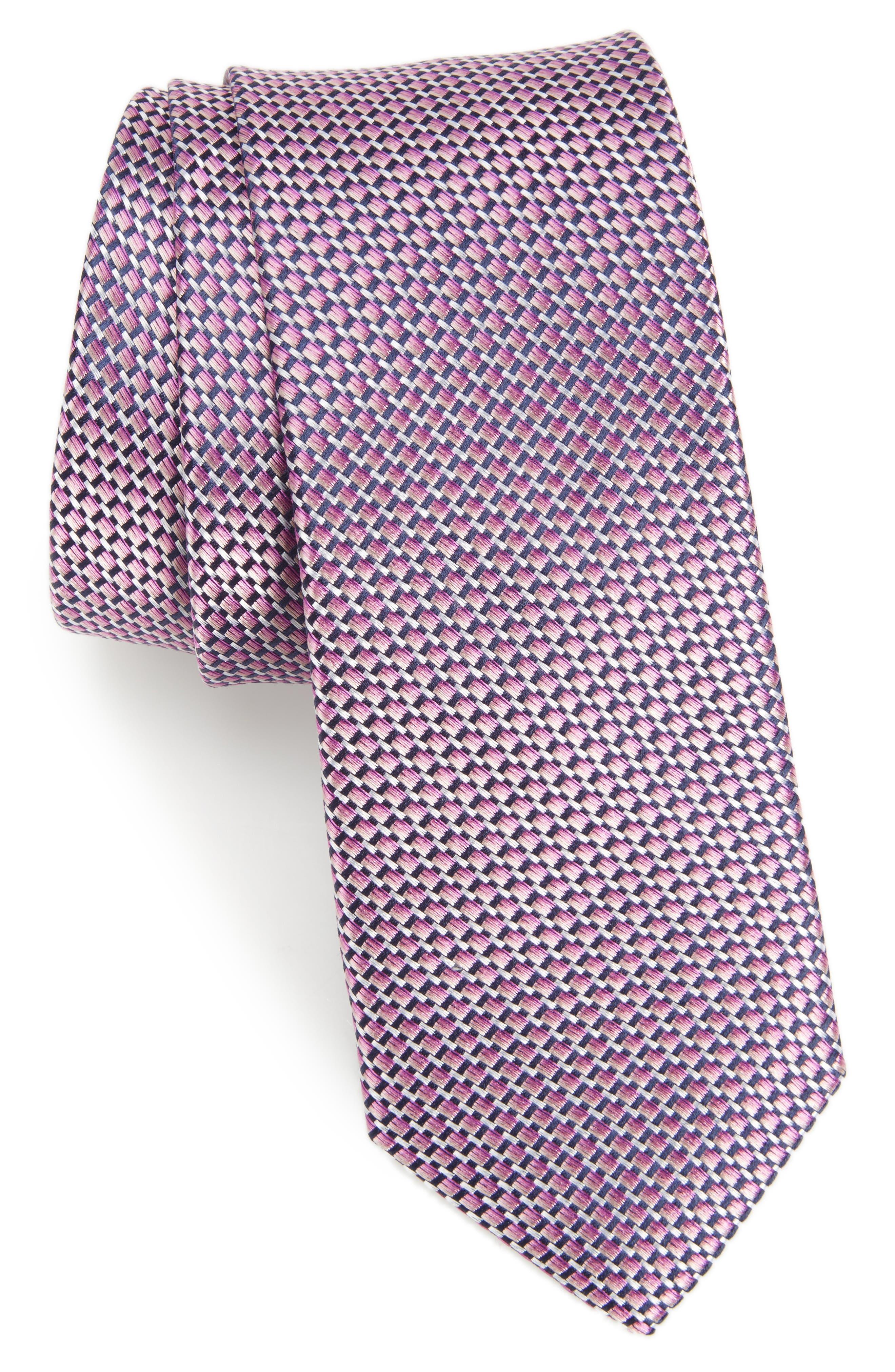 NORDSTROM MENS SHOP Iris Solid Silk Skinny Tie