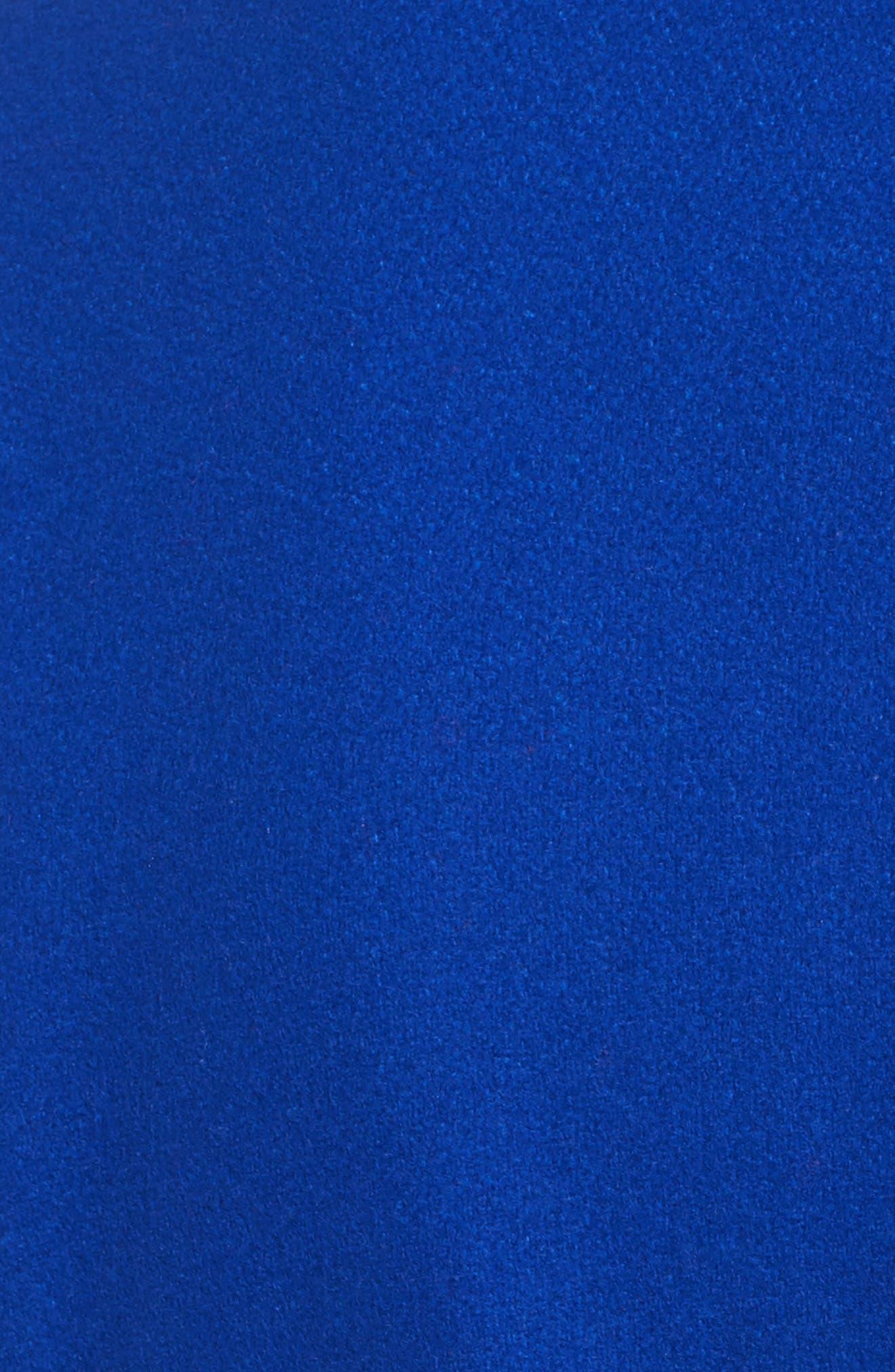 Wool Blend Short Wrap Coat,                             Alternate thumbnail 5, color,                             Bright Blue