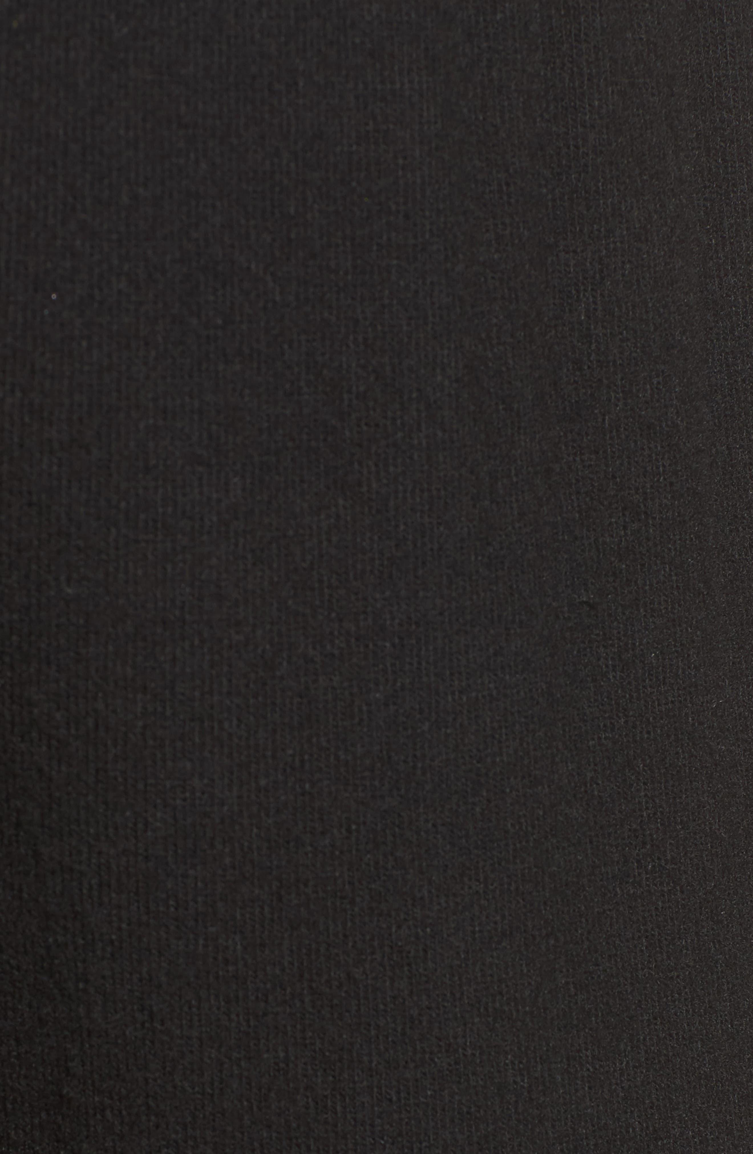 'Nate' Crop Sweatpants,                             Alternate thumbnail 5, color,                             Jet Black