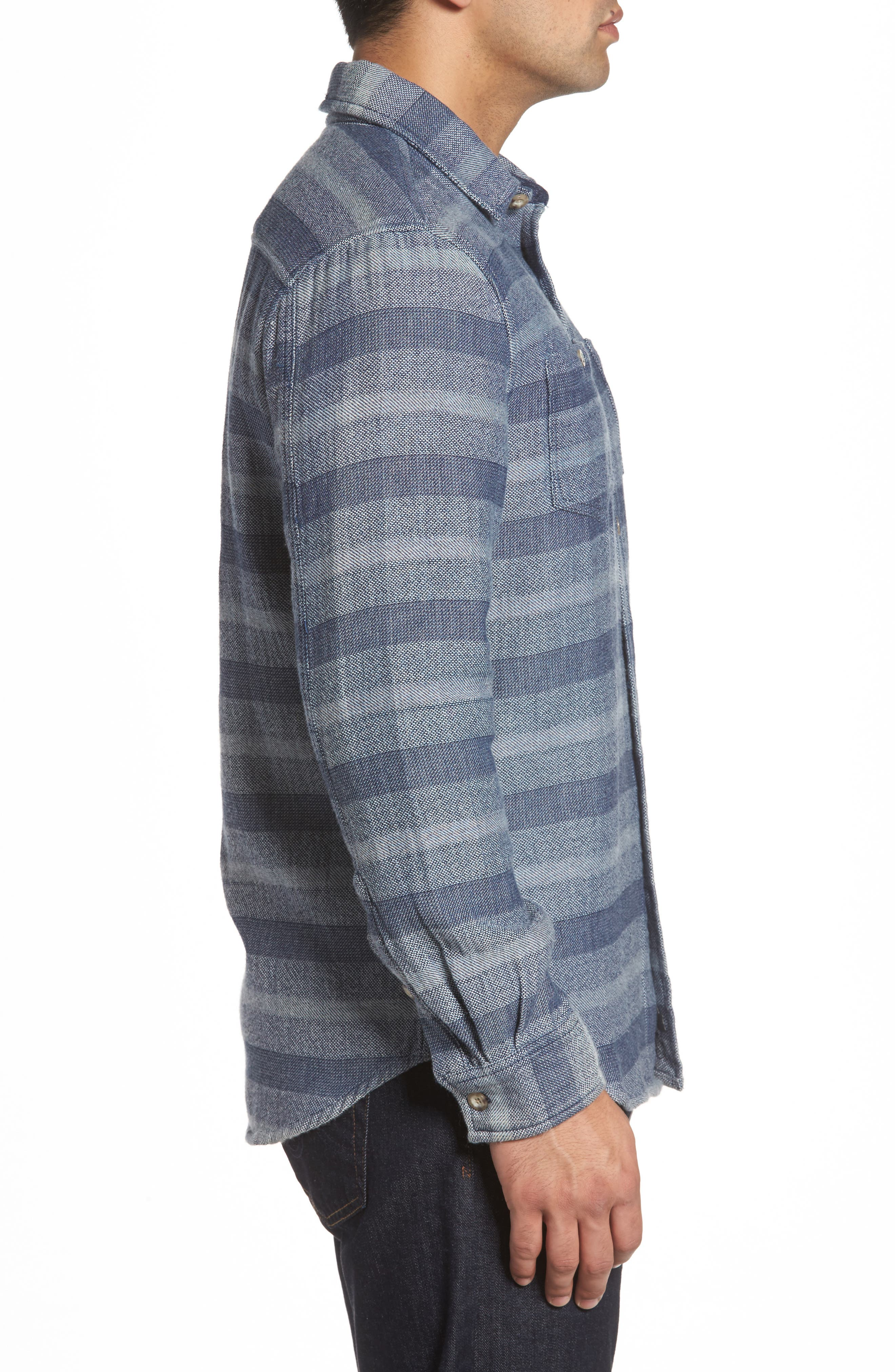 Alternate Image 3  - johnnie-O Teton Classic Fit Stripe Sport Shirt