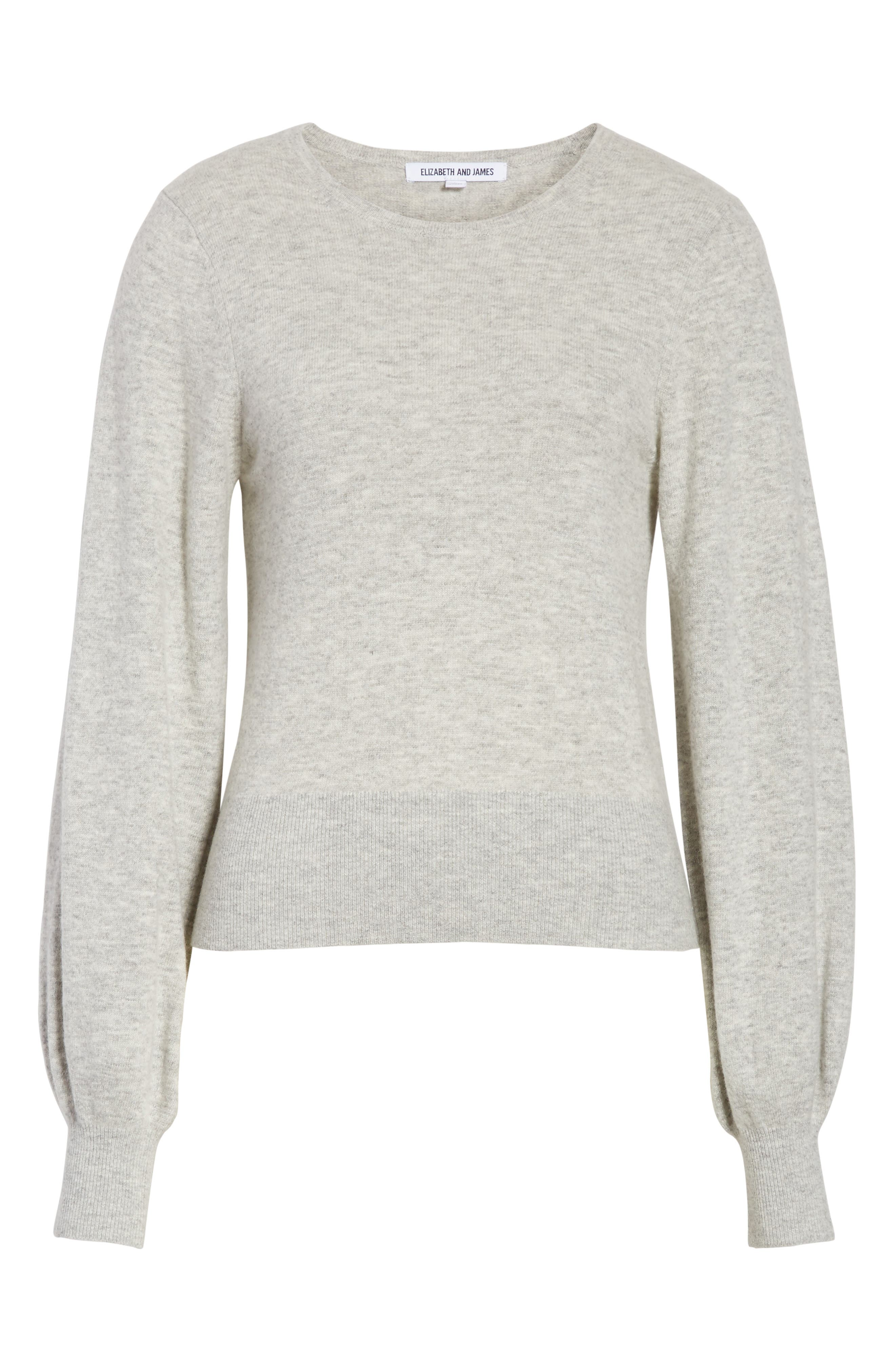 Bretta Sweater,                             Alternate thumbnail 7, color,                             Heather Grey