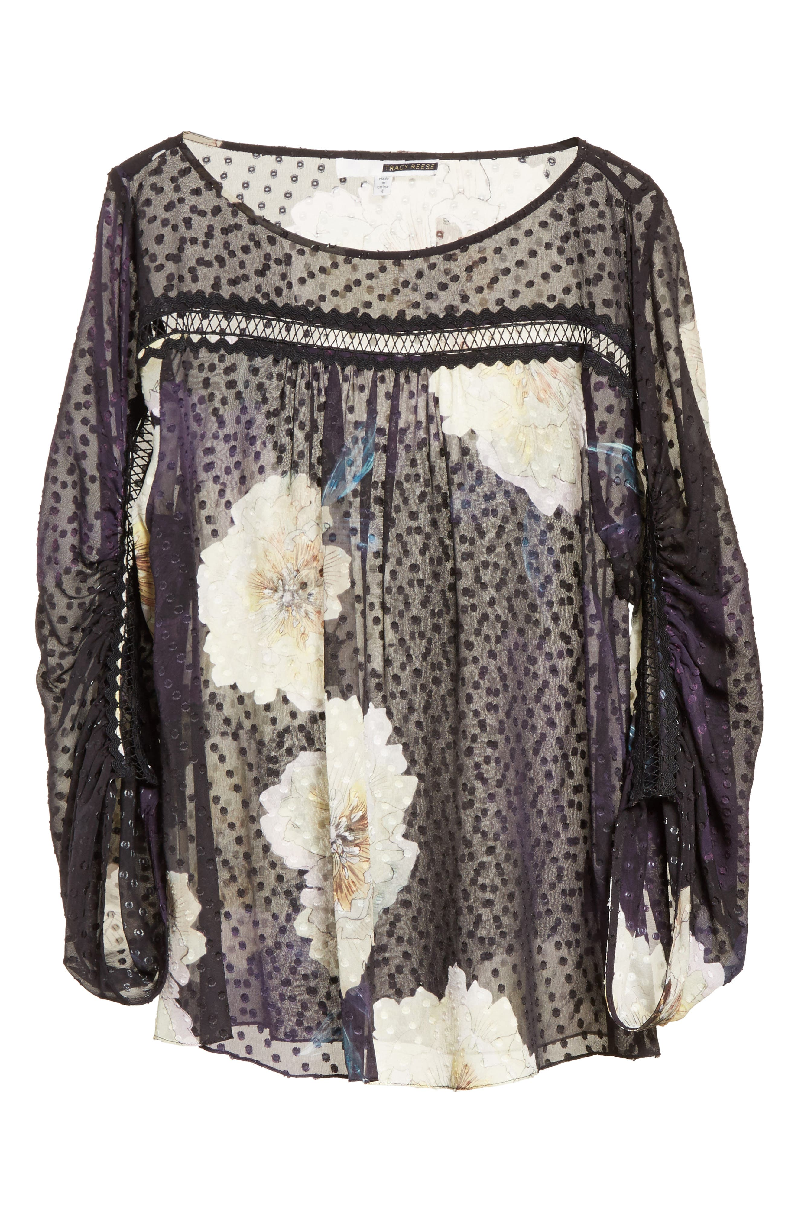 Alternate Image 6  - Tracy Reese Silk Blossom Blouse
