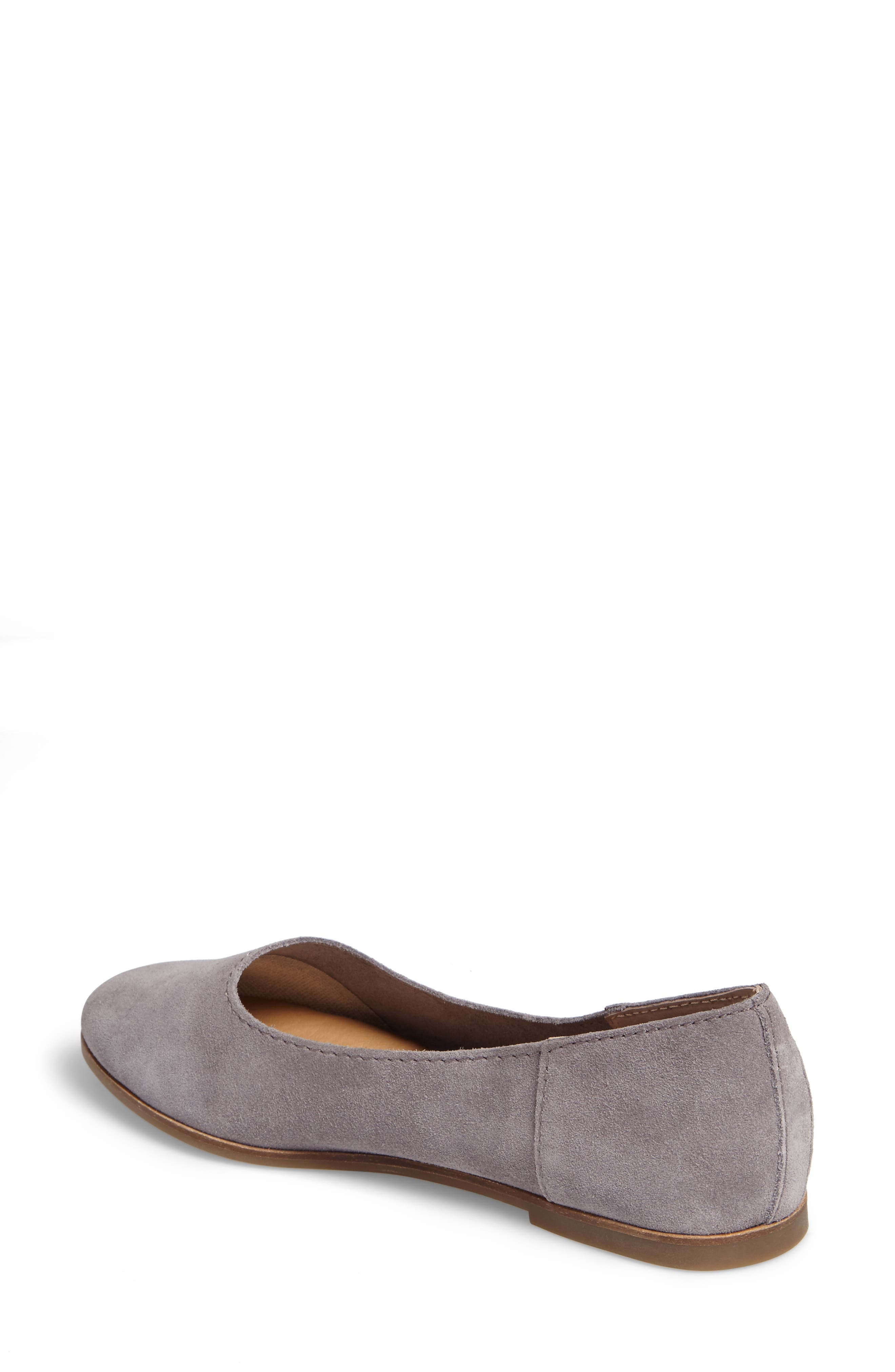 Calandra Flat,                             Alternate thumbnail 2, color,                             Steel Grey Suede