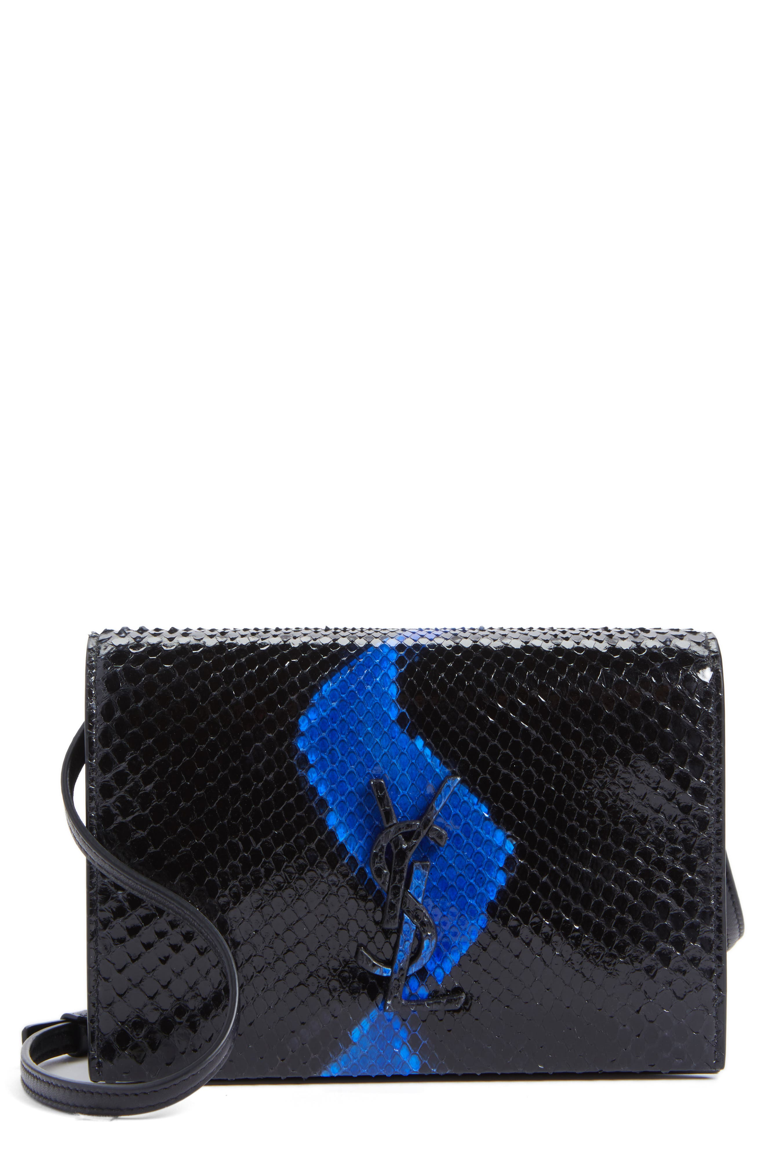 Saint Laurent Toy Kate Genuine Snakeskin Bag