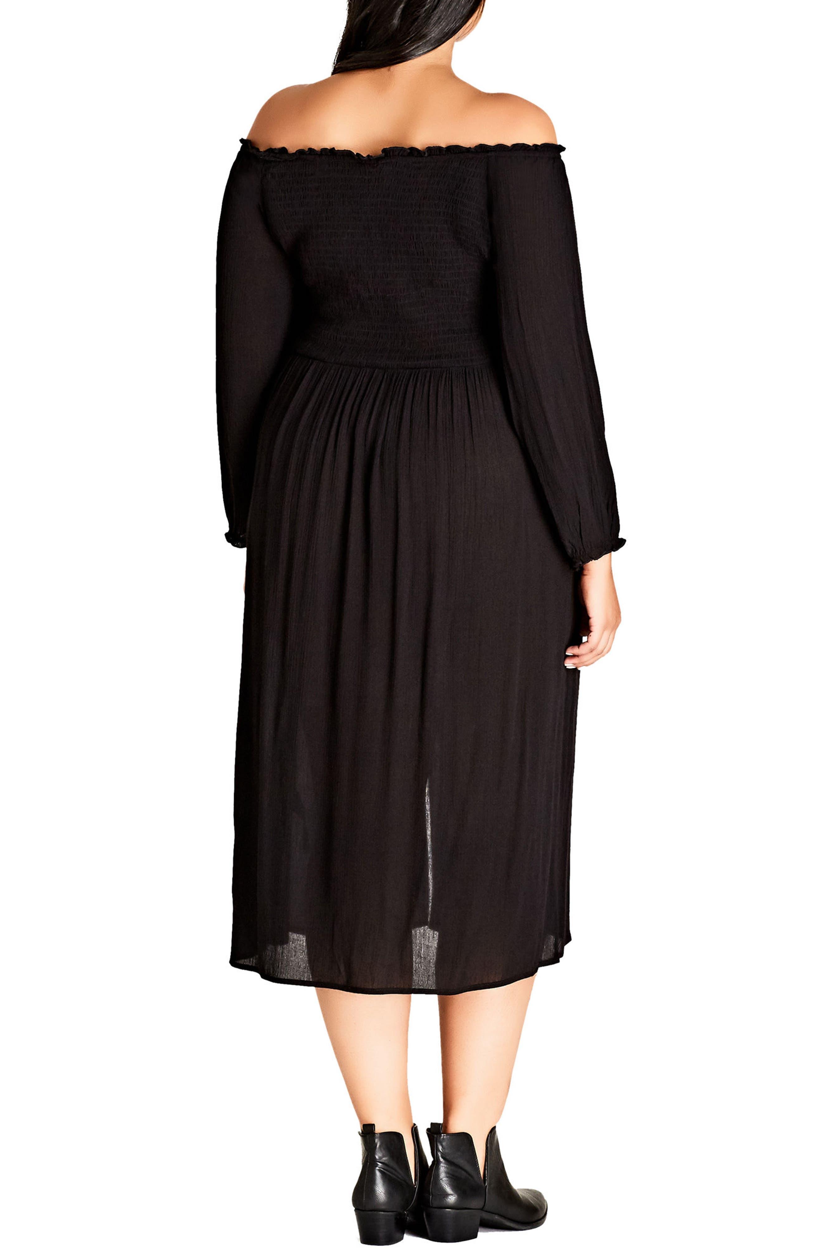 Alternate Image 2  - City Chic Vintage Midi Dress (Plus Size)