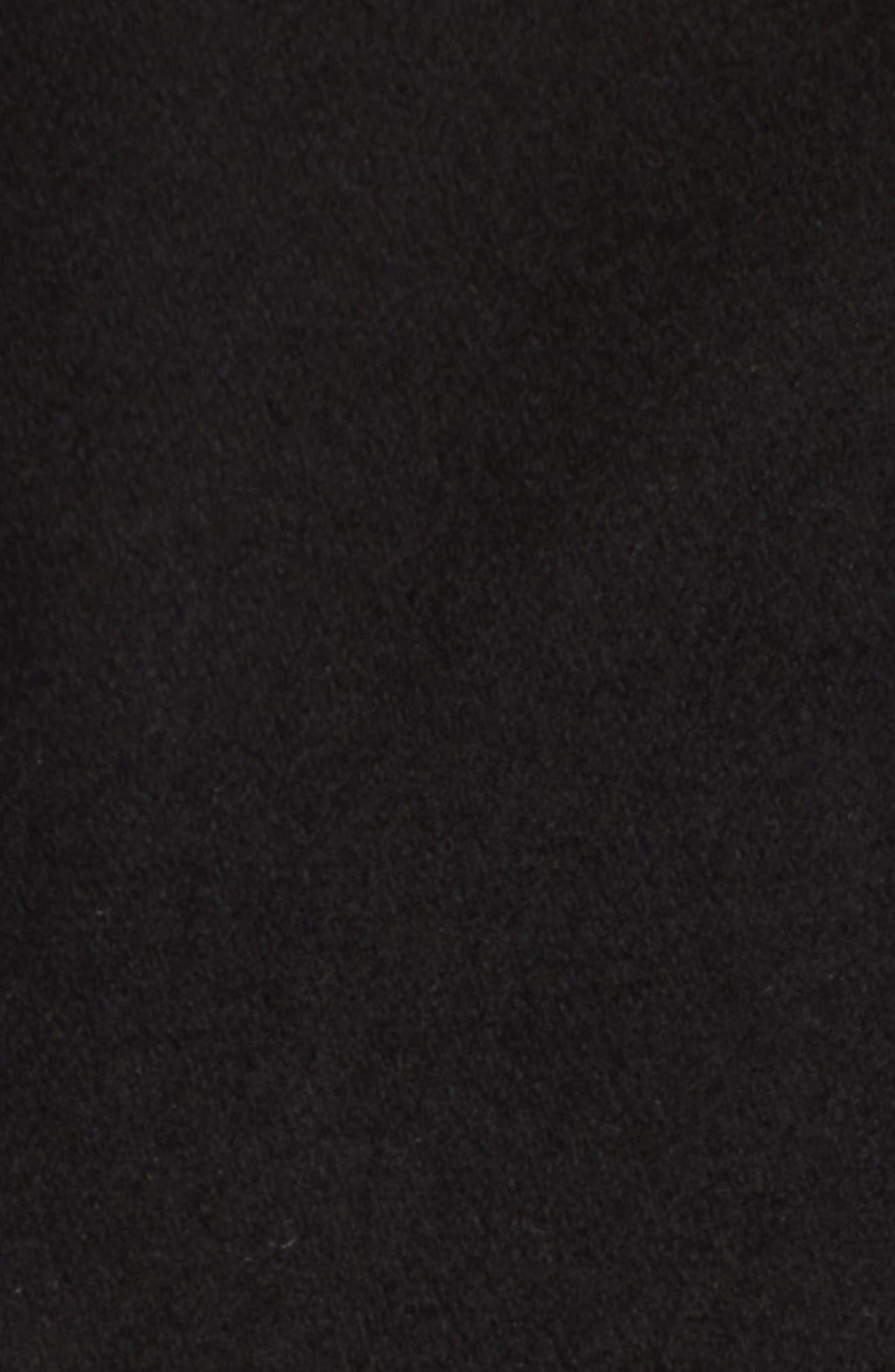 Wrap Trench Coat,                             Alternate thumbnail 5, color,                             Black