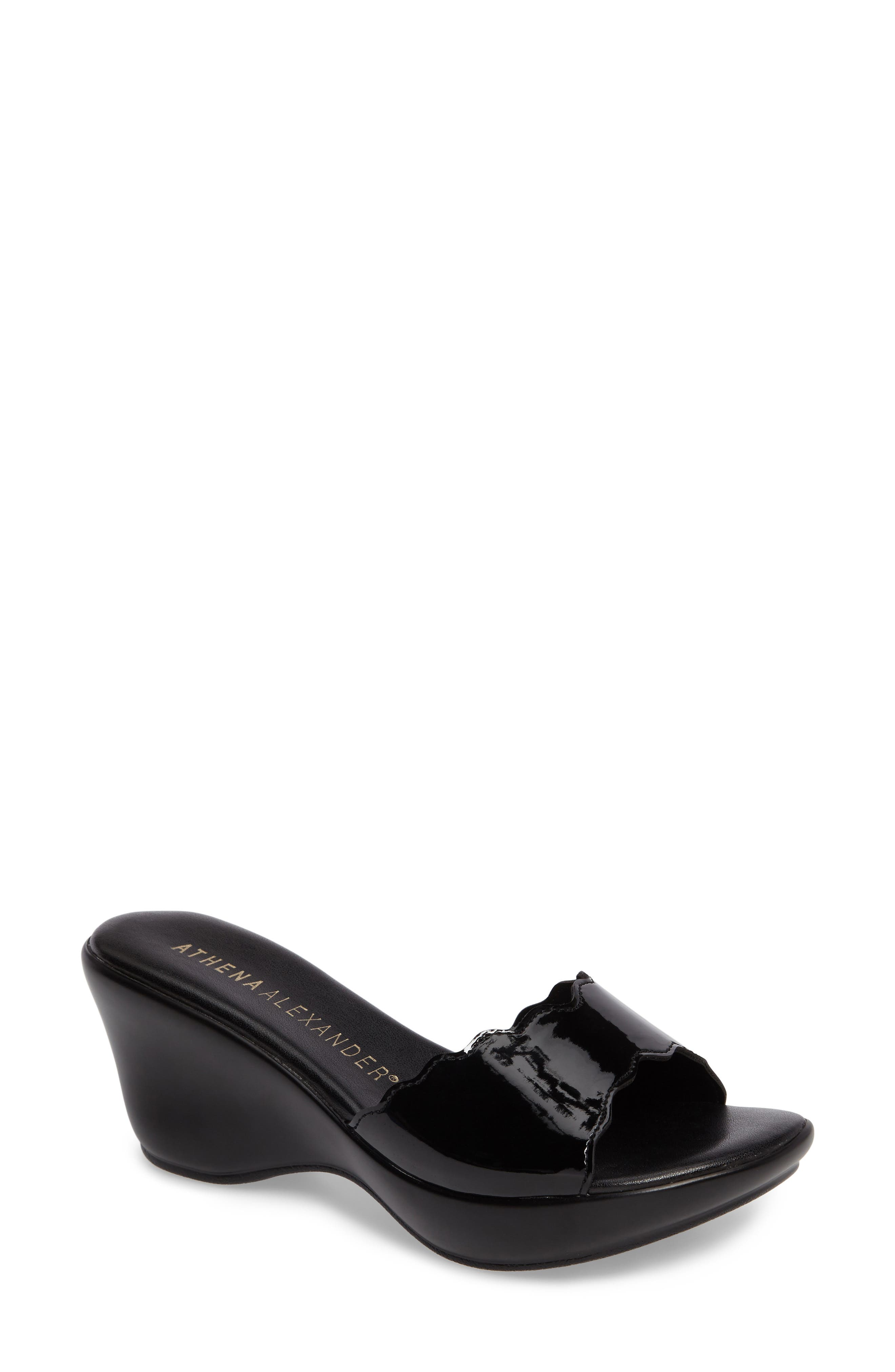 Novva Sandal,                         Main,                         color, Black Synthetic