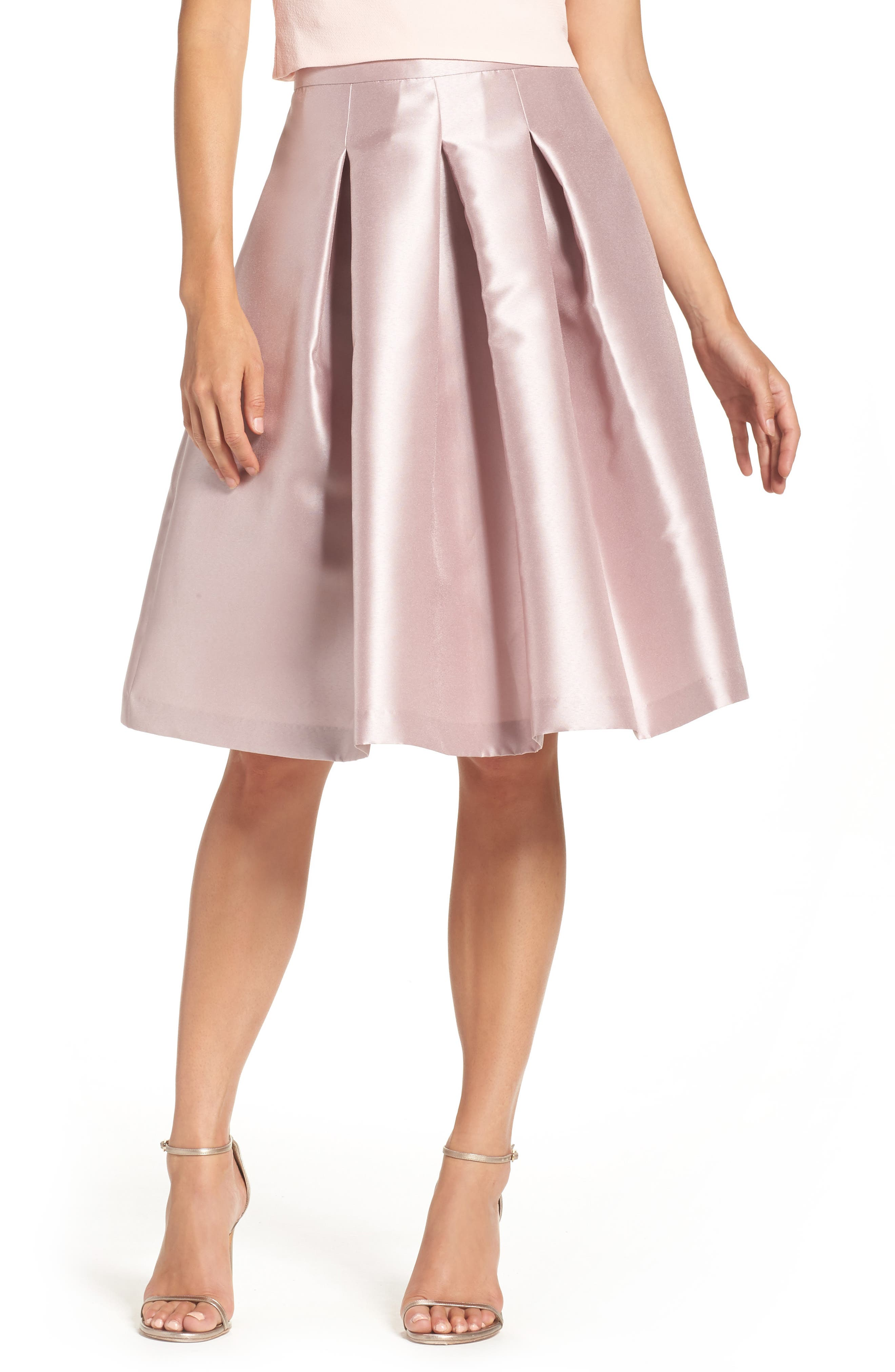 Release Pleat Full Skirt,                         Main,                         color, Mauve
