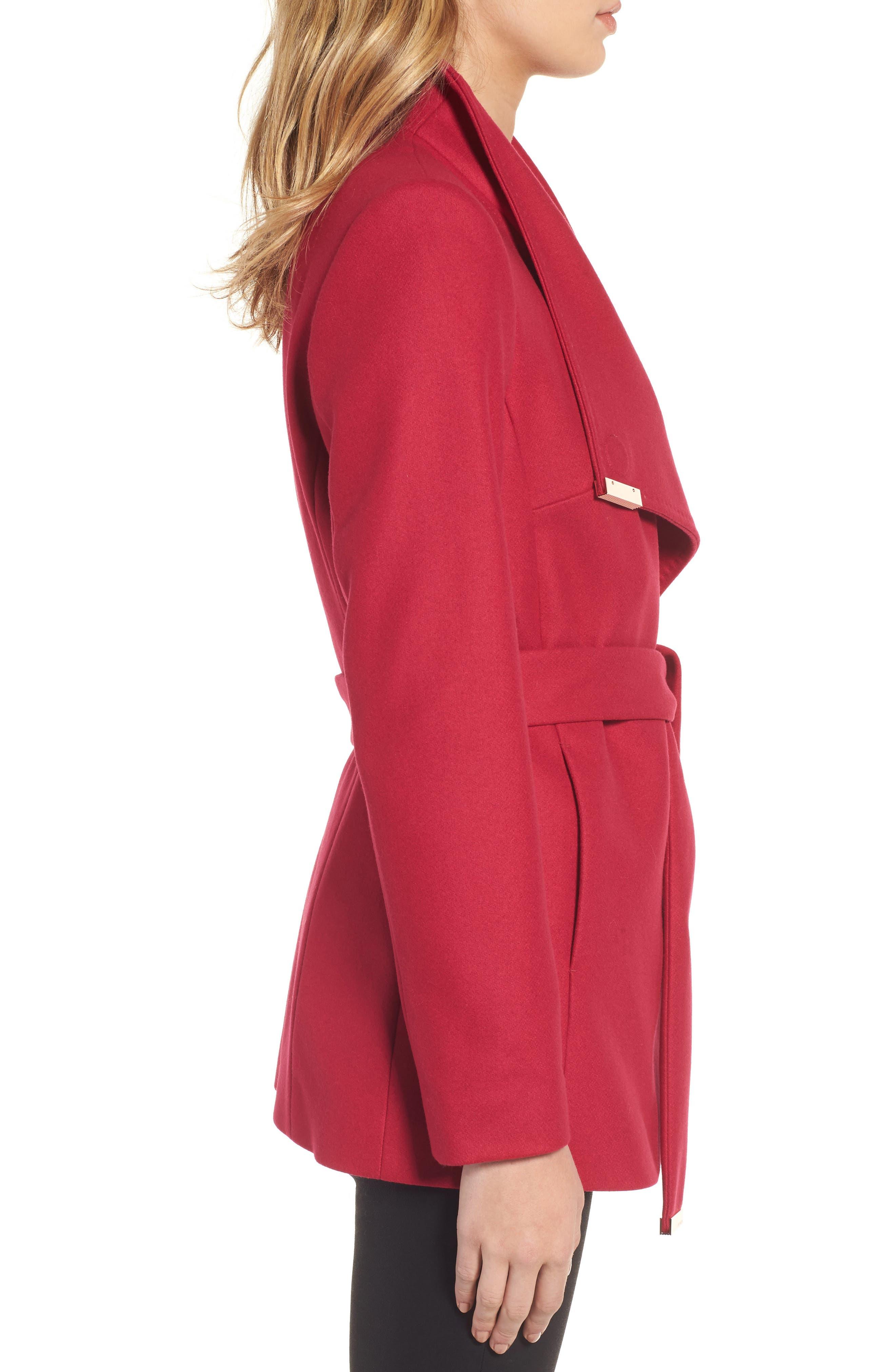 Alternate Image 3  - Ted Baker London Wool Blend Short Wrap Coat