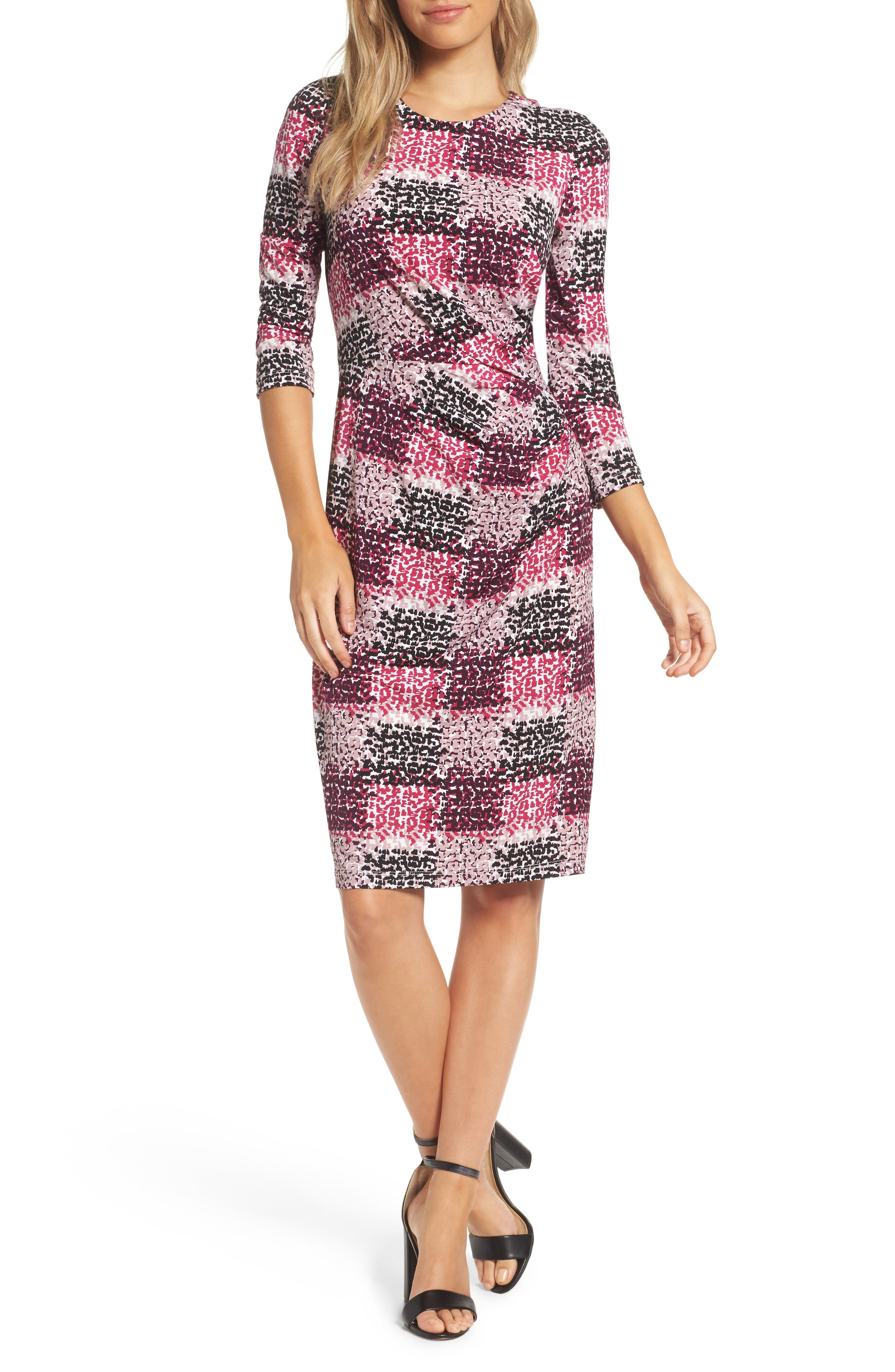 Main Image - Eliza J Jersey Sheath Dress (Regular & Petite)