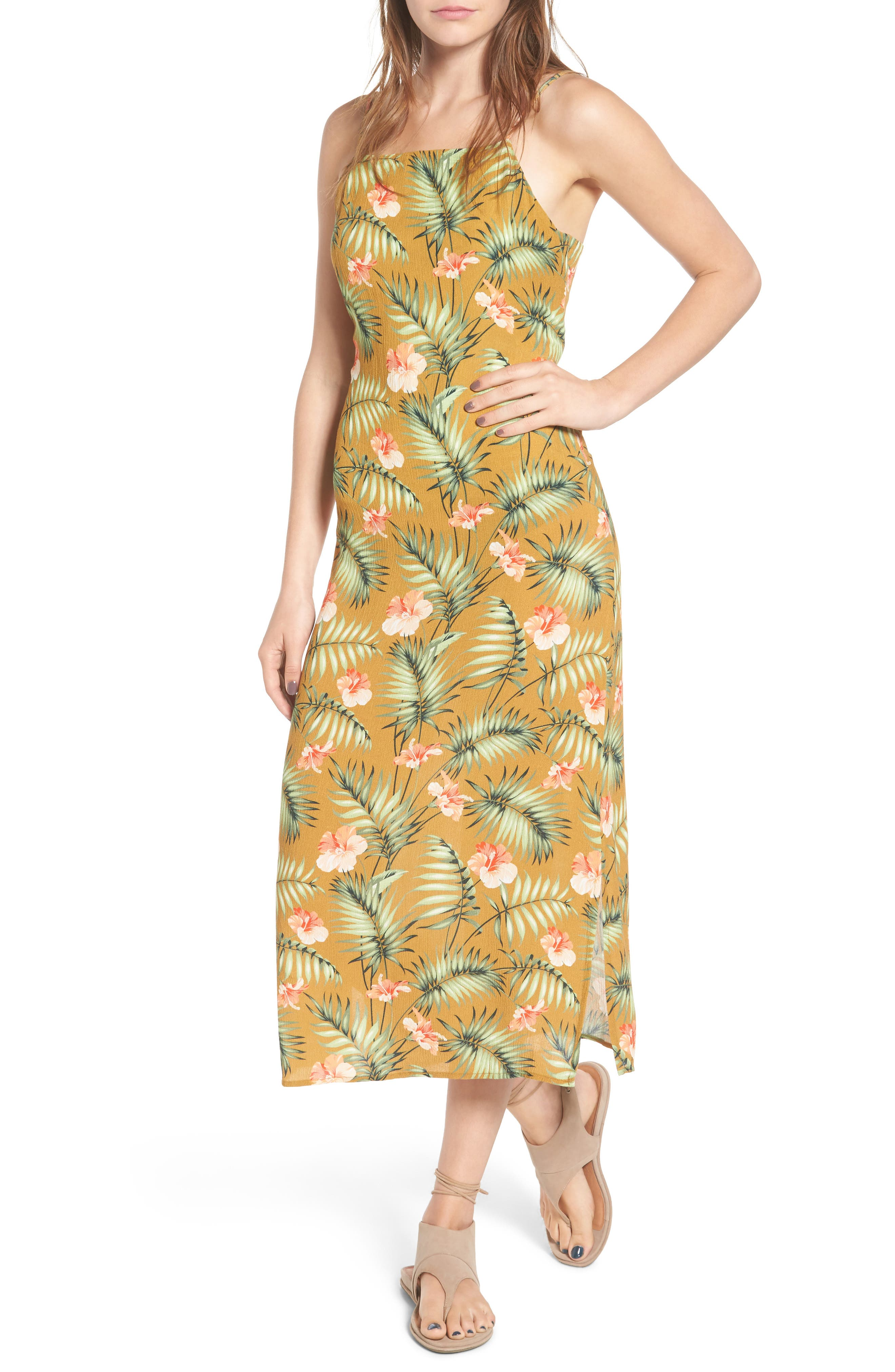 Sincerely Jules Palm Print Slipdress