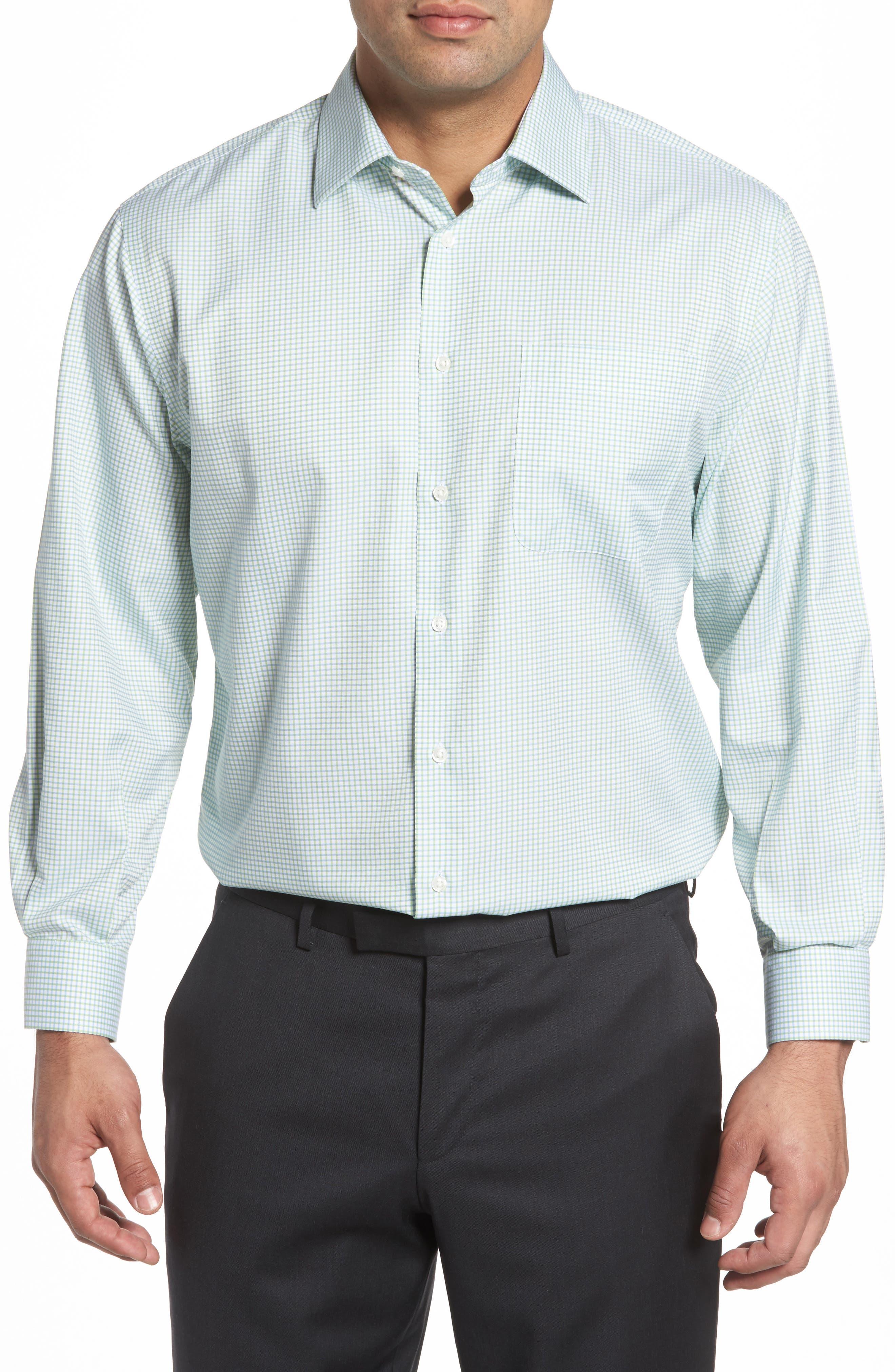 Smartcare<sup>™</sup> Classic Fit Check Dress Shirt,                             Alternate thumbnail 2, color,                             Green Atom