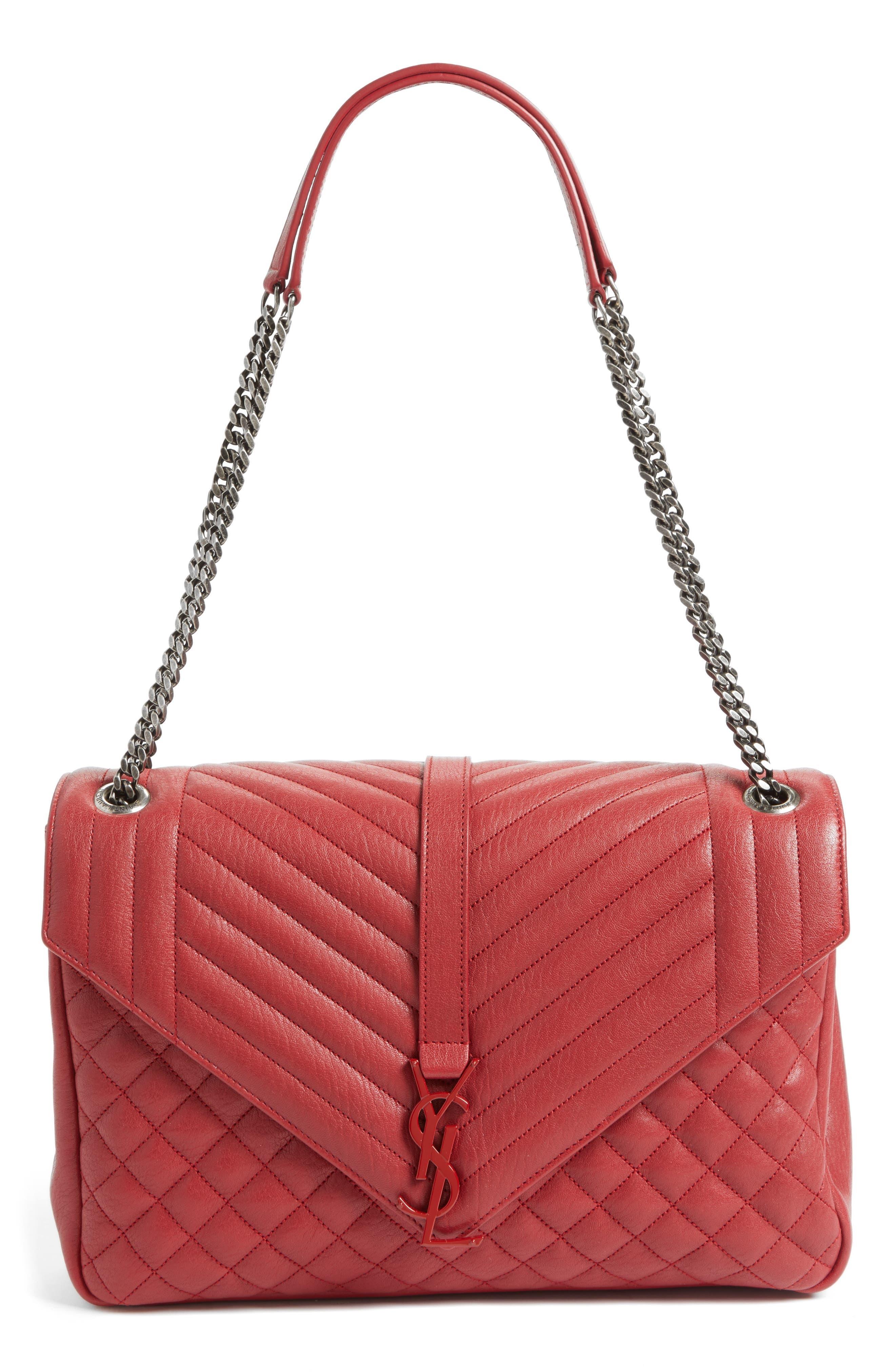 Saint Laurent Large Kate Matelassé Leather Shoulder Bag