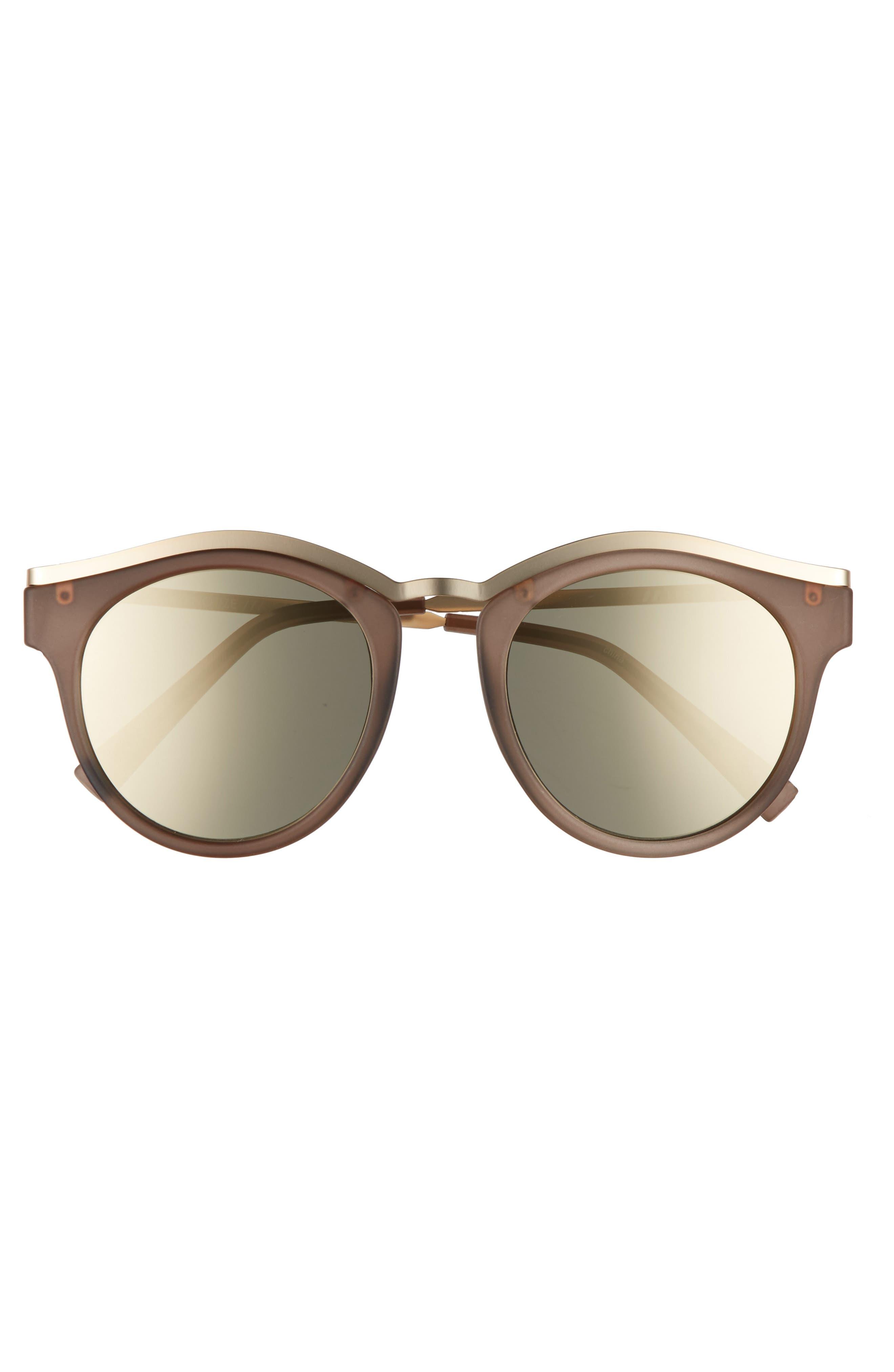 Alternate Image 3  - Le Specs Hypnotize 50mm Round Sunglasses