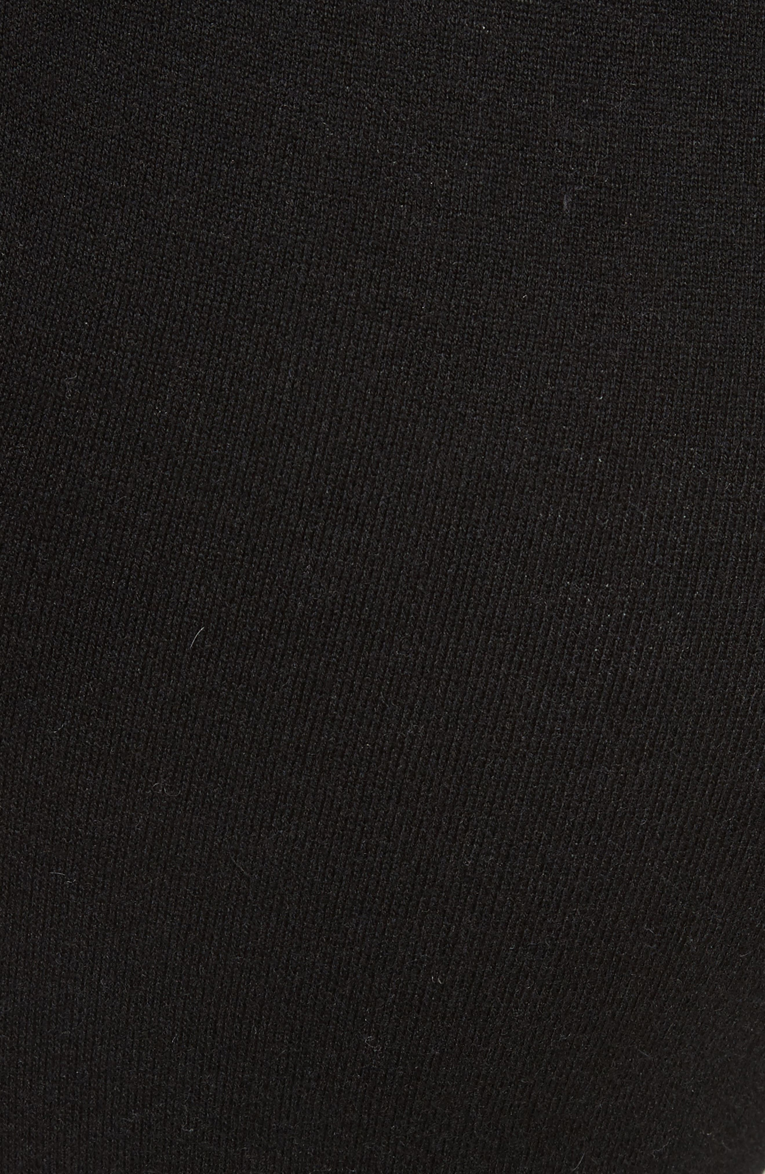 Cotton Blend Knit Sweatpants,                             Alternate thumbnail 6, color,                             Black/ Foggy