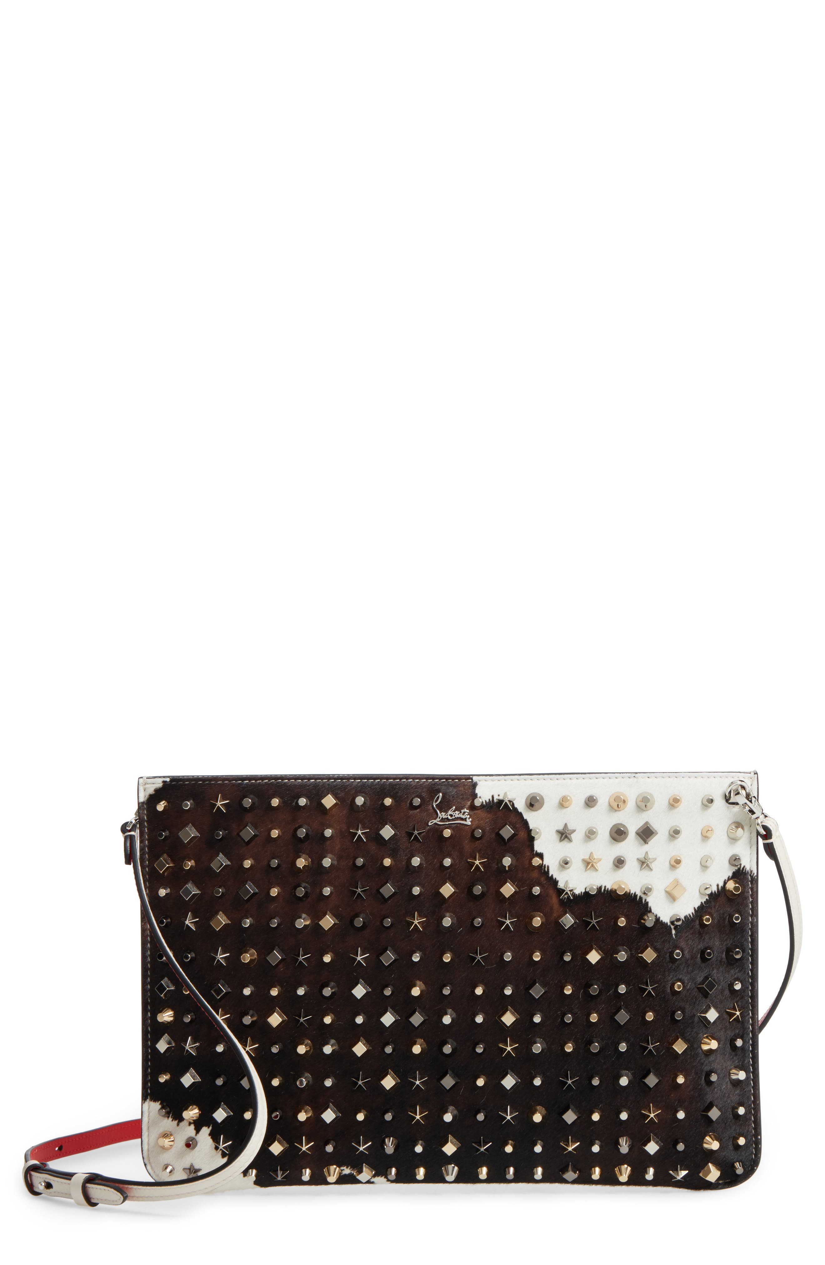 Christian Louboutin Loubiclutch Genuine Calf Hair Clutch