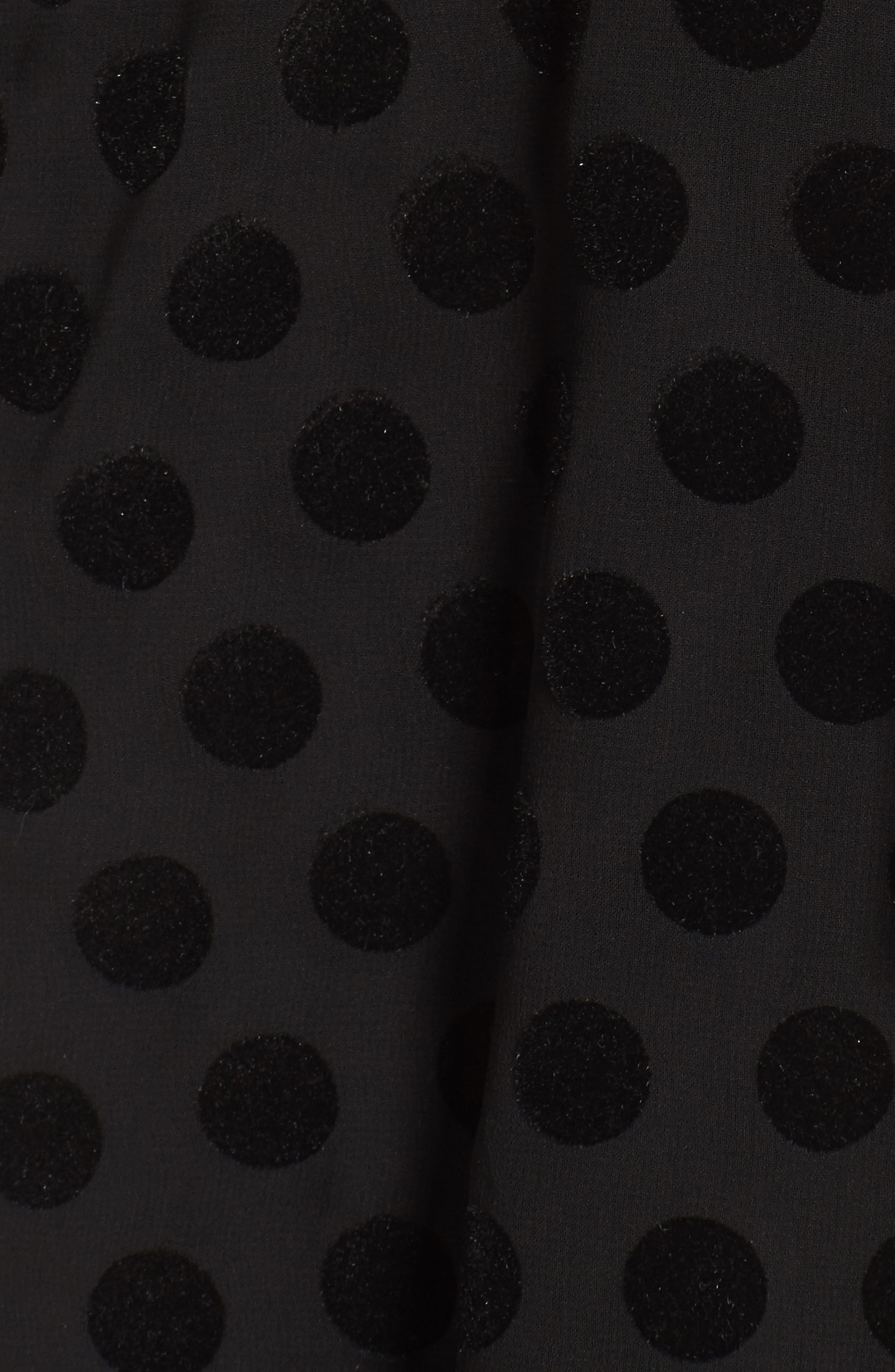 Alternate Image 5  - Bardot Strapless Flocked Velvet Spot Dress