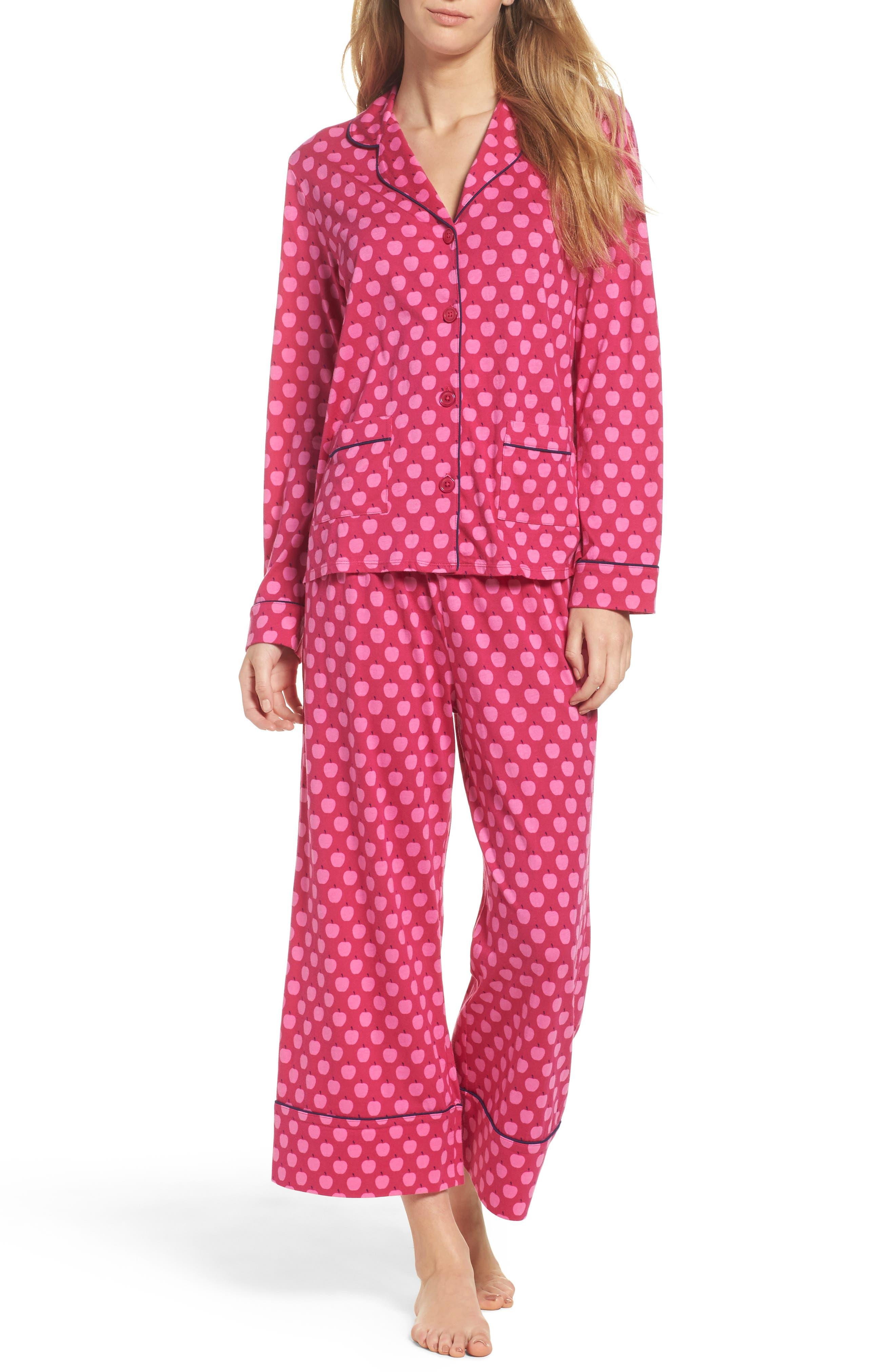 crop pajamas,                         Main,                         color, Pink