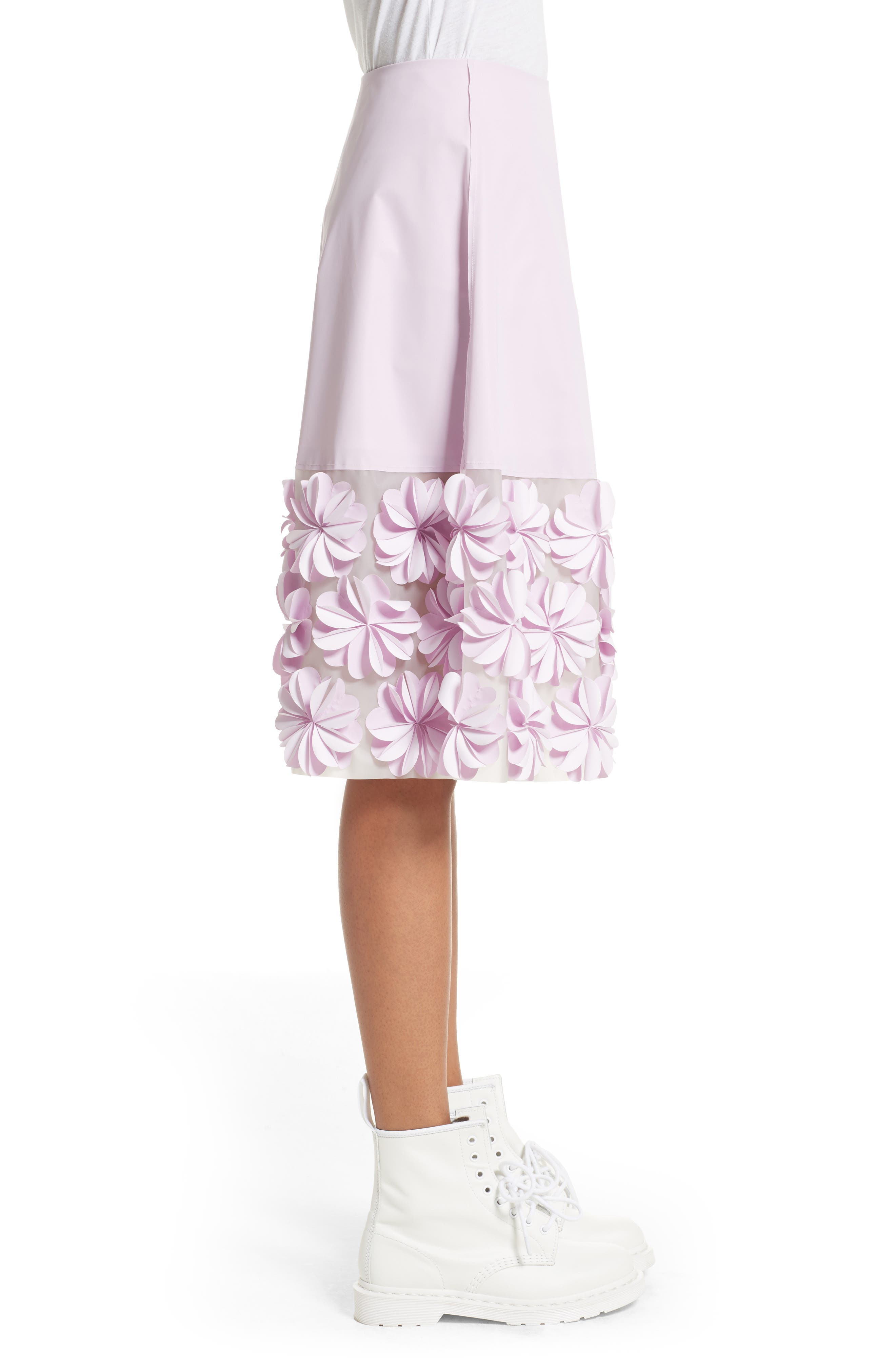 Alternate Image 3  - PASKAL Reflective Floral Appliqué Skirt