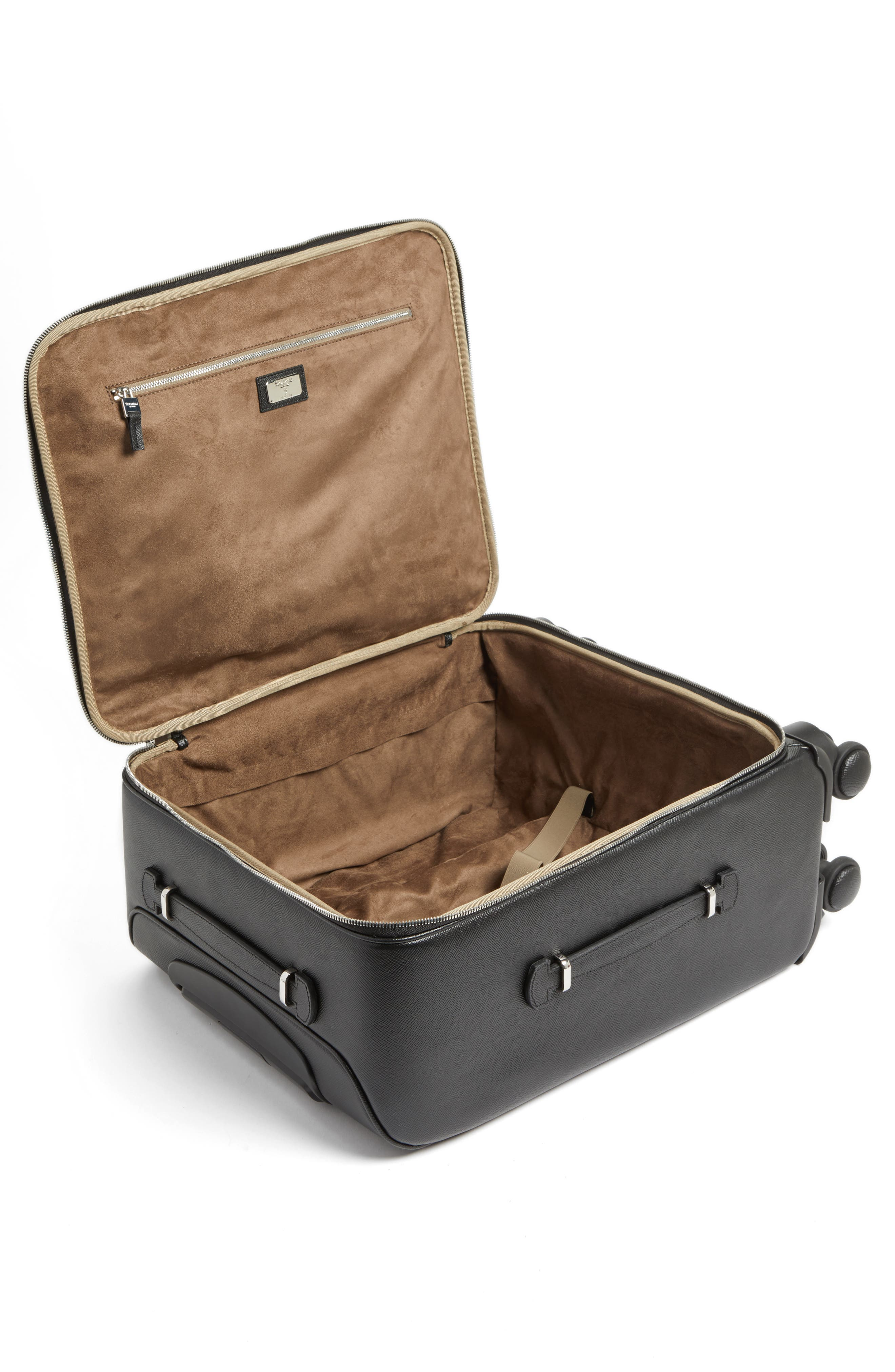 Trolley Spinner Wheeled Carry-On Suitcase,                             Alternate thumbnail 2, color,                             Black