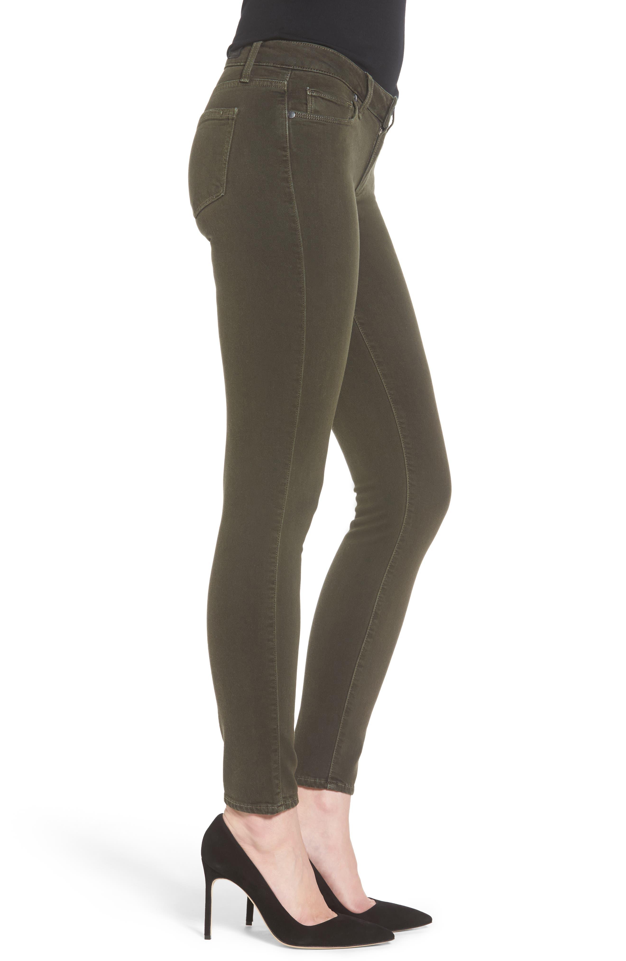 Transcend - Verdugo Ankle Skinny Jeans,                             Alternate thumbnail 3, color,                             Deep Juniper